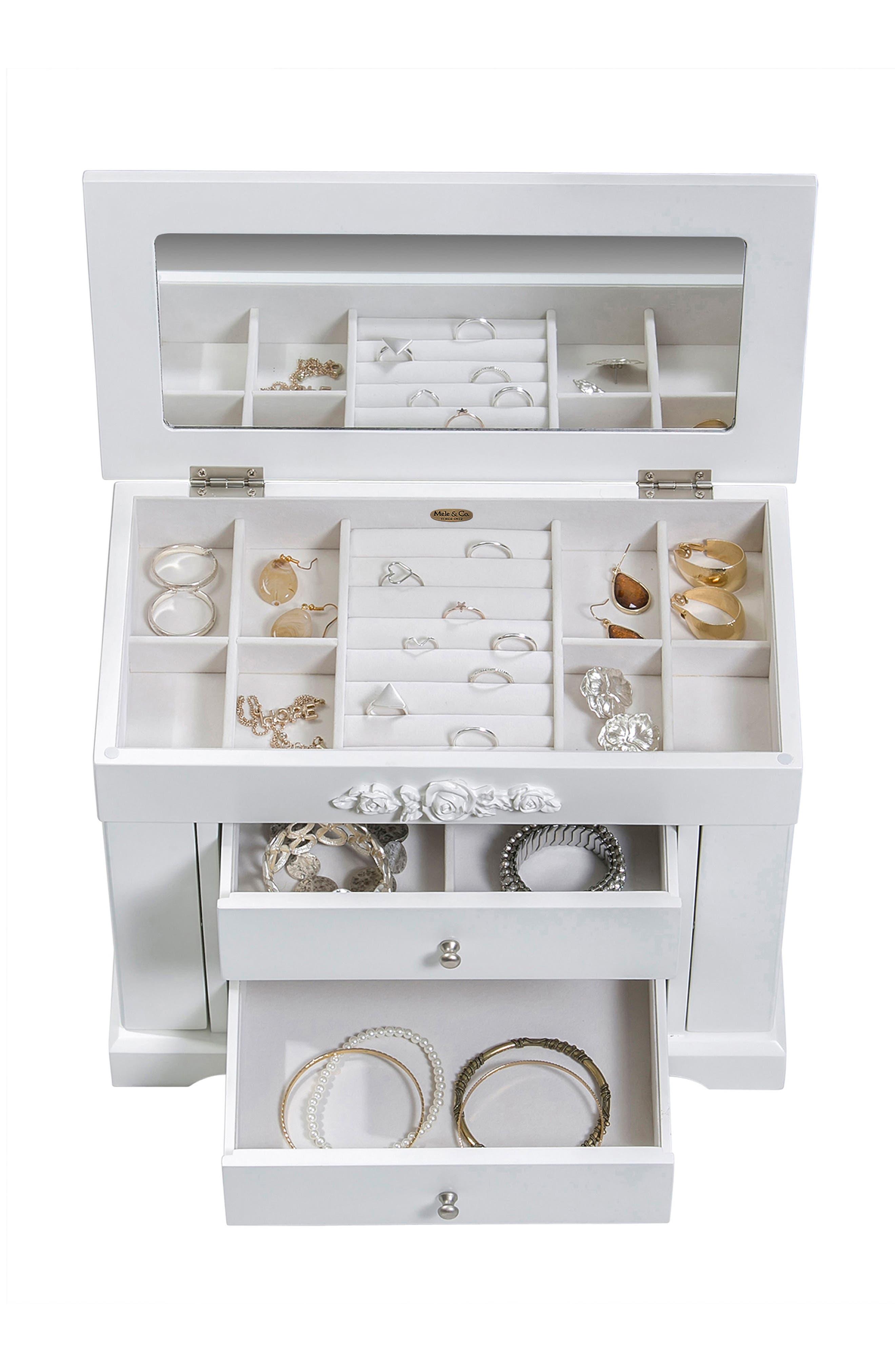 Montague Jewelry Box,                             Alternate thumbnail 2, color,                             White