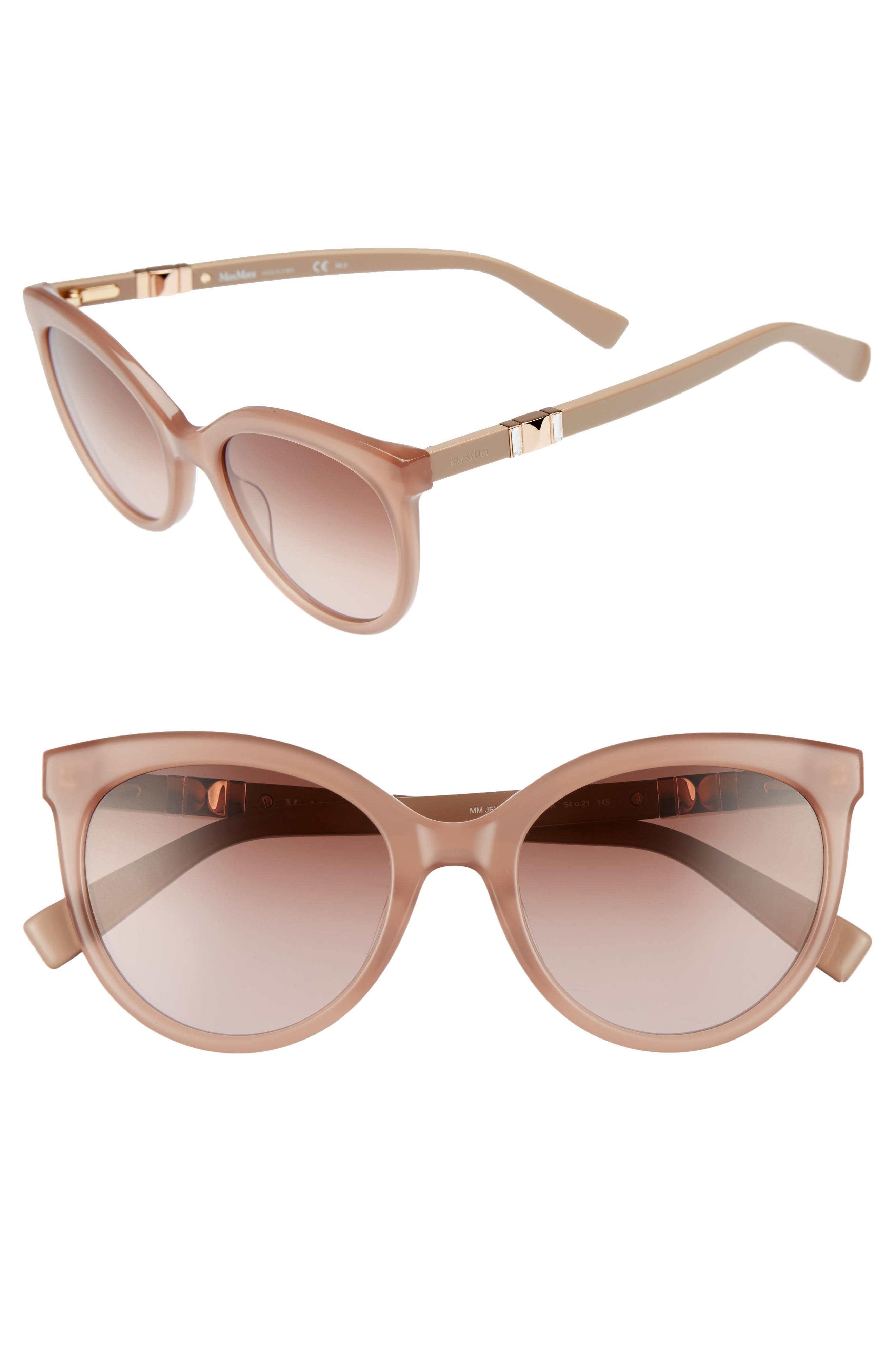 Jeweliis 54mm Gradient Cat Eye Sunglasses,                             Main thumbnail 1, color,                             Nude