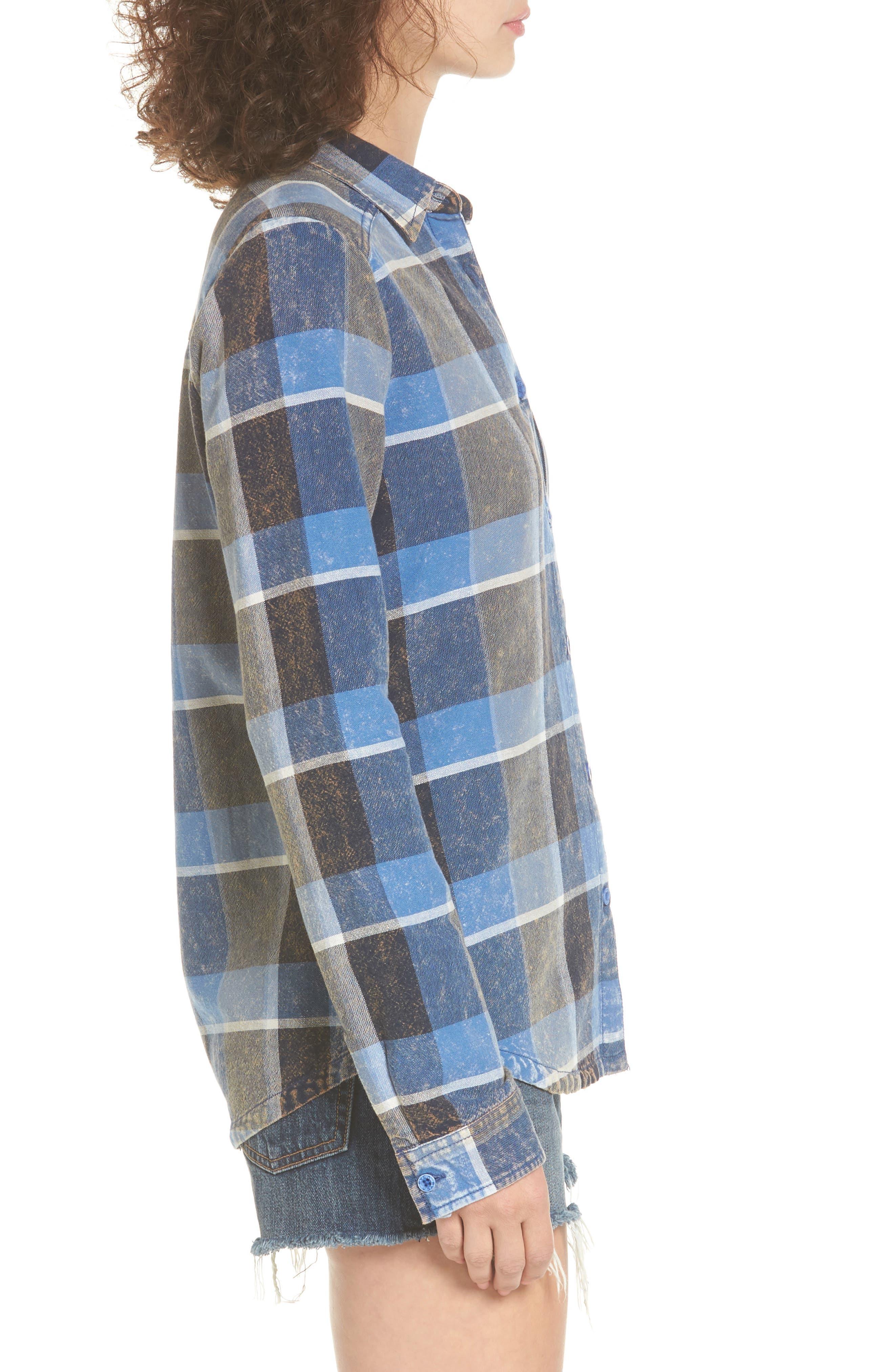 Alternate Image 3  - RVCA Pops Cotton Plaid Shirt