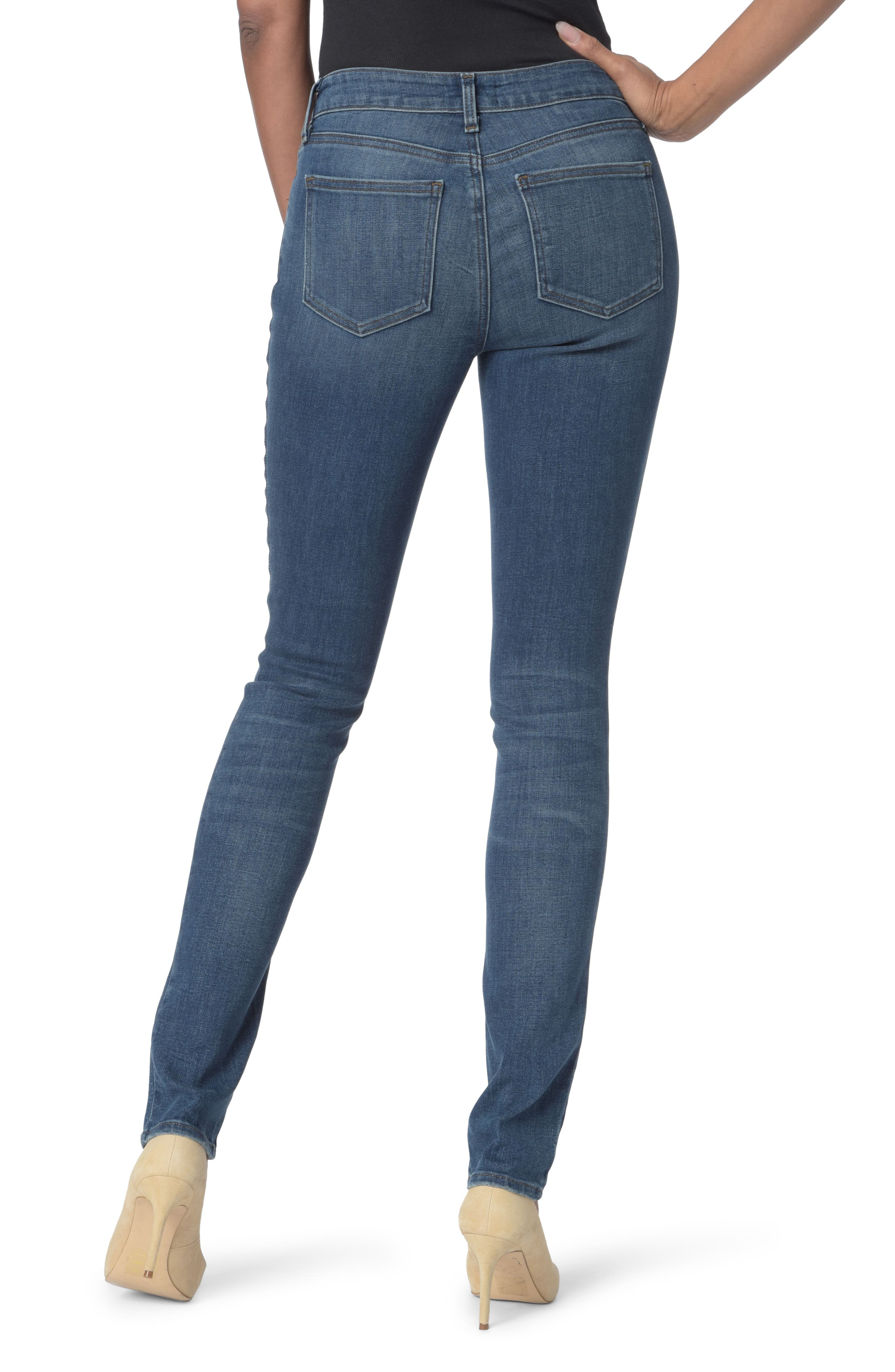 Alina Stretch Skinny Jeans,                             Alternate thumbnail 2, color,                             Noma
