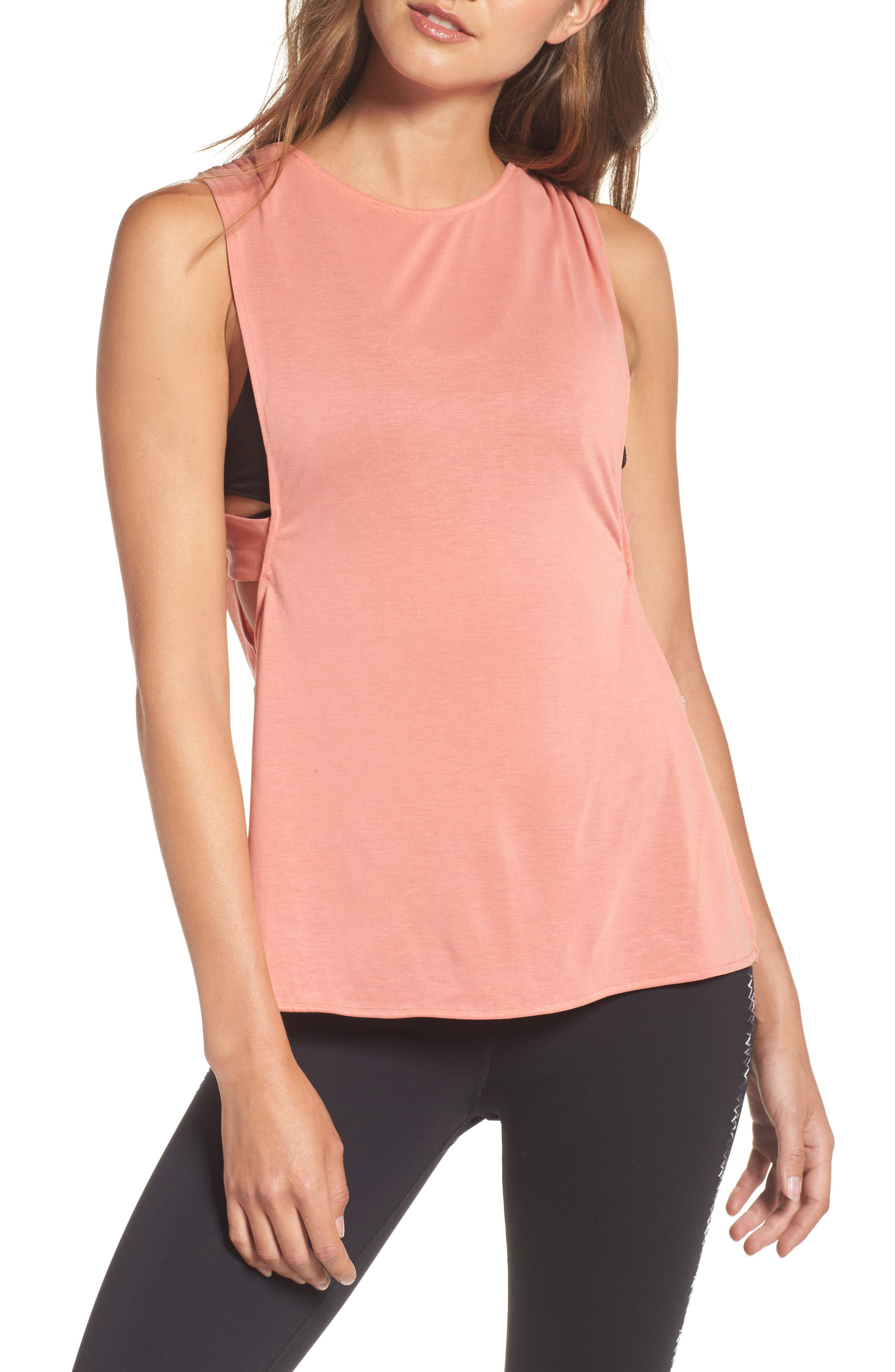 FP Movement Crossback Training Tank,                         Main,                         color, Peach