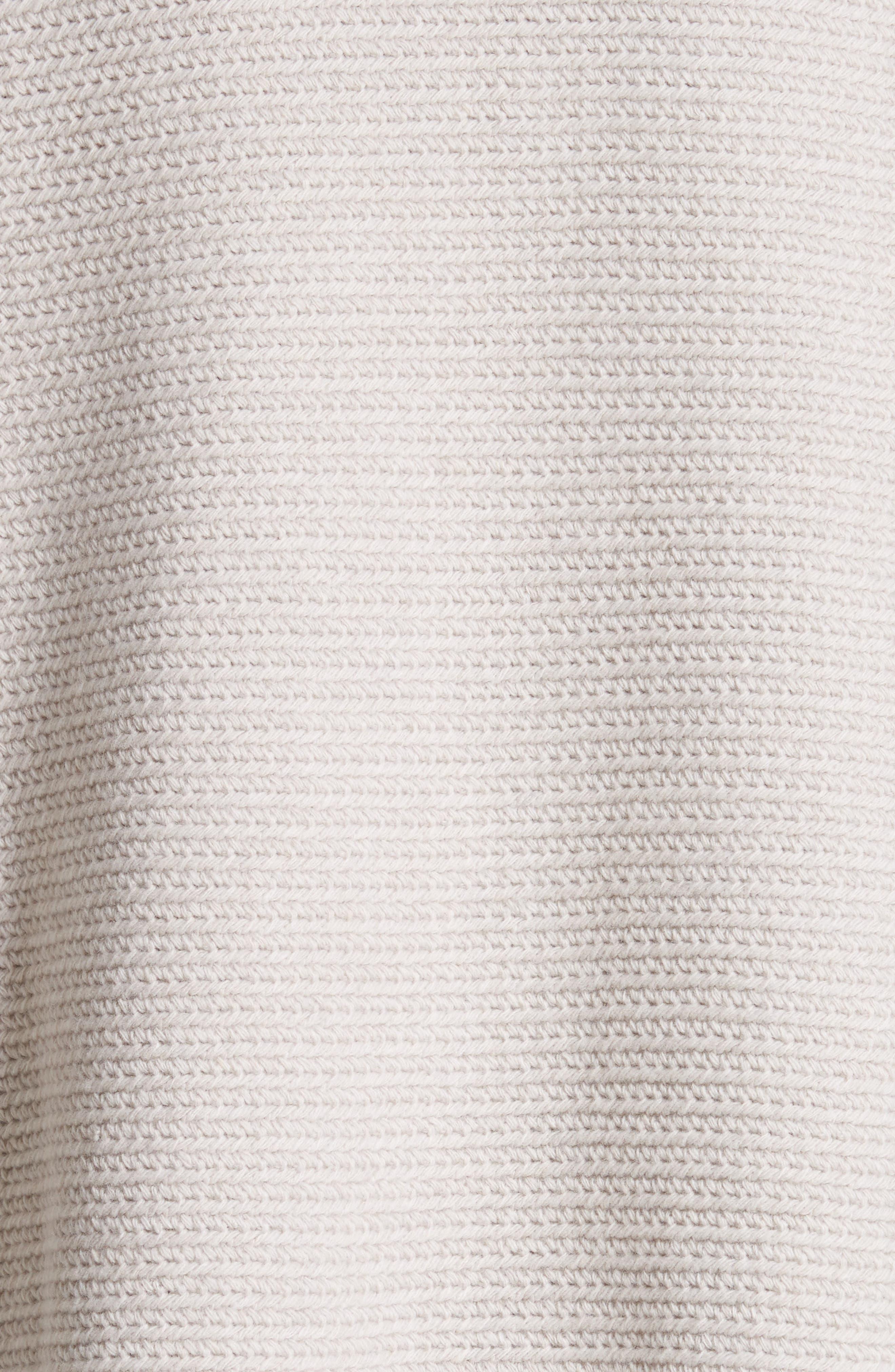 Alternate Image 5  - Lafayette 148 New York Wool & Cashmere Herringbone Stitch Cardigan with Genuine Shearling Pockets