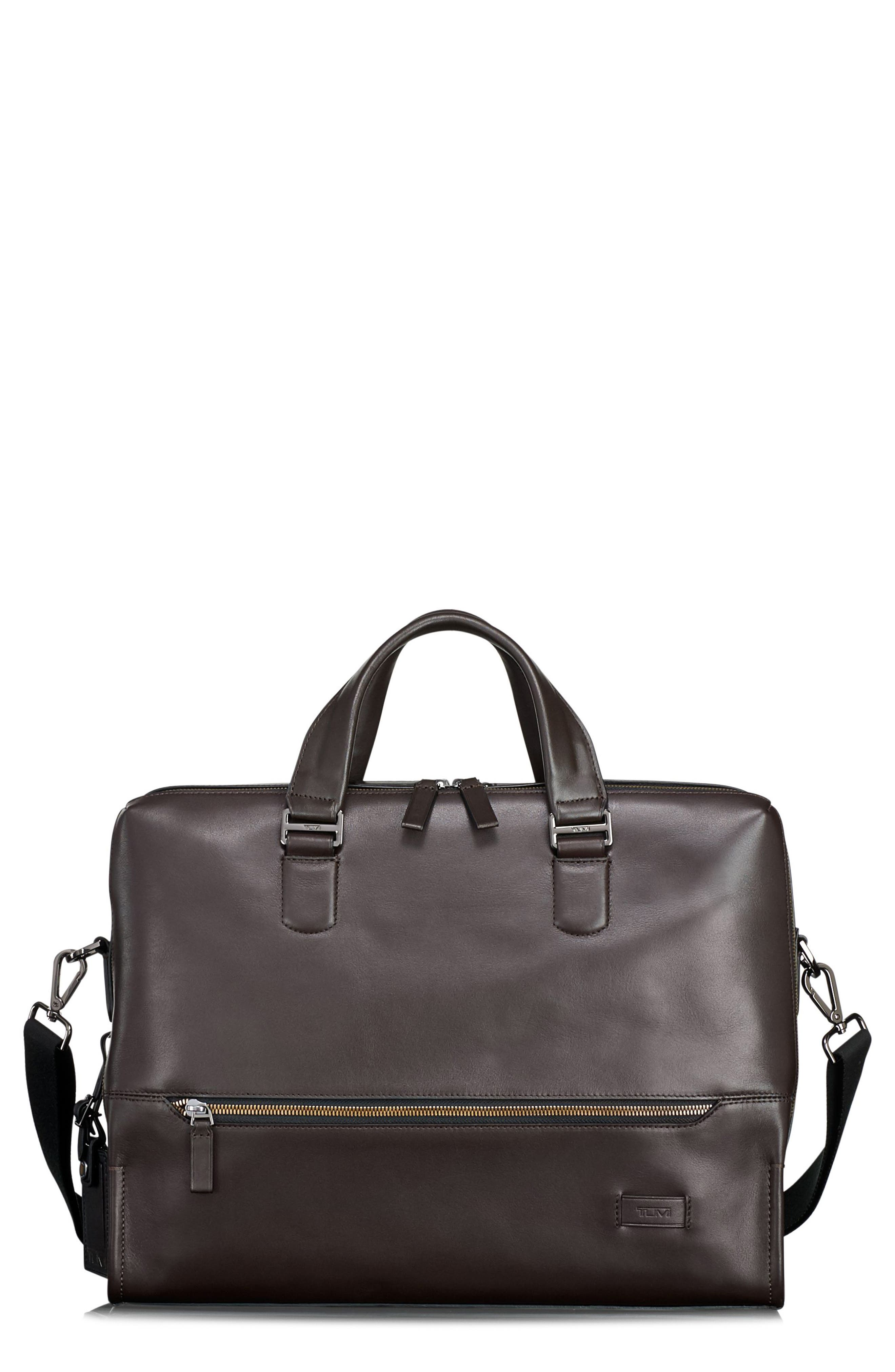 Main Image - Tumi Harrison Horton Double Zip Leather Briefcase