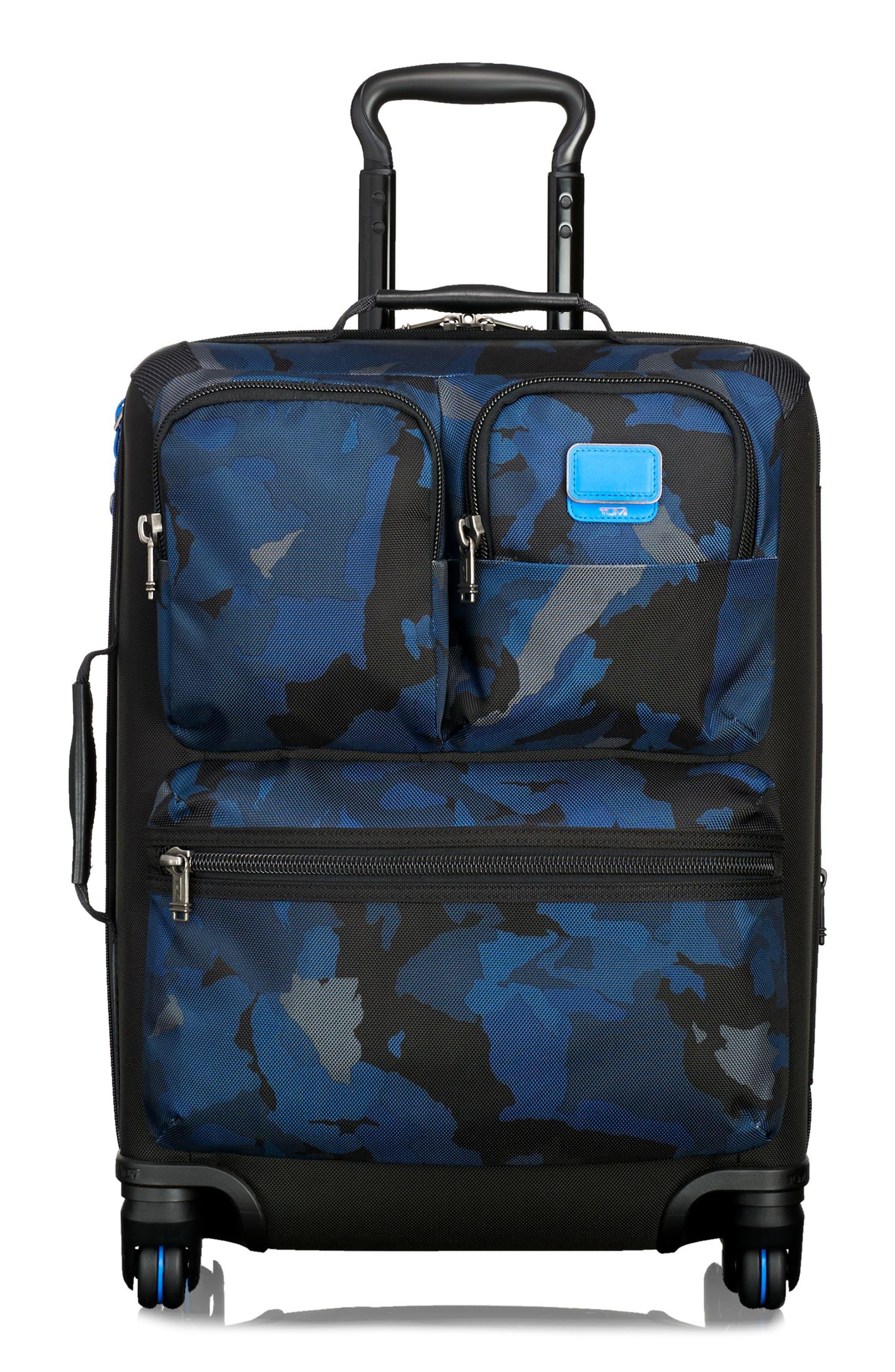 Alpha Bravo Kirtland 22 Inch Continental Wheeled Carry-On,                         Main,                         color, Blue Camo
