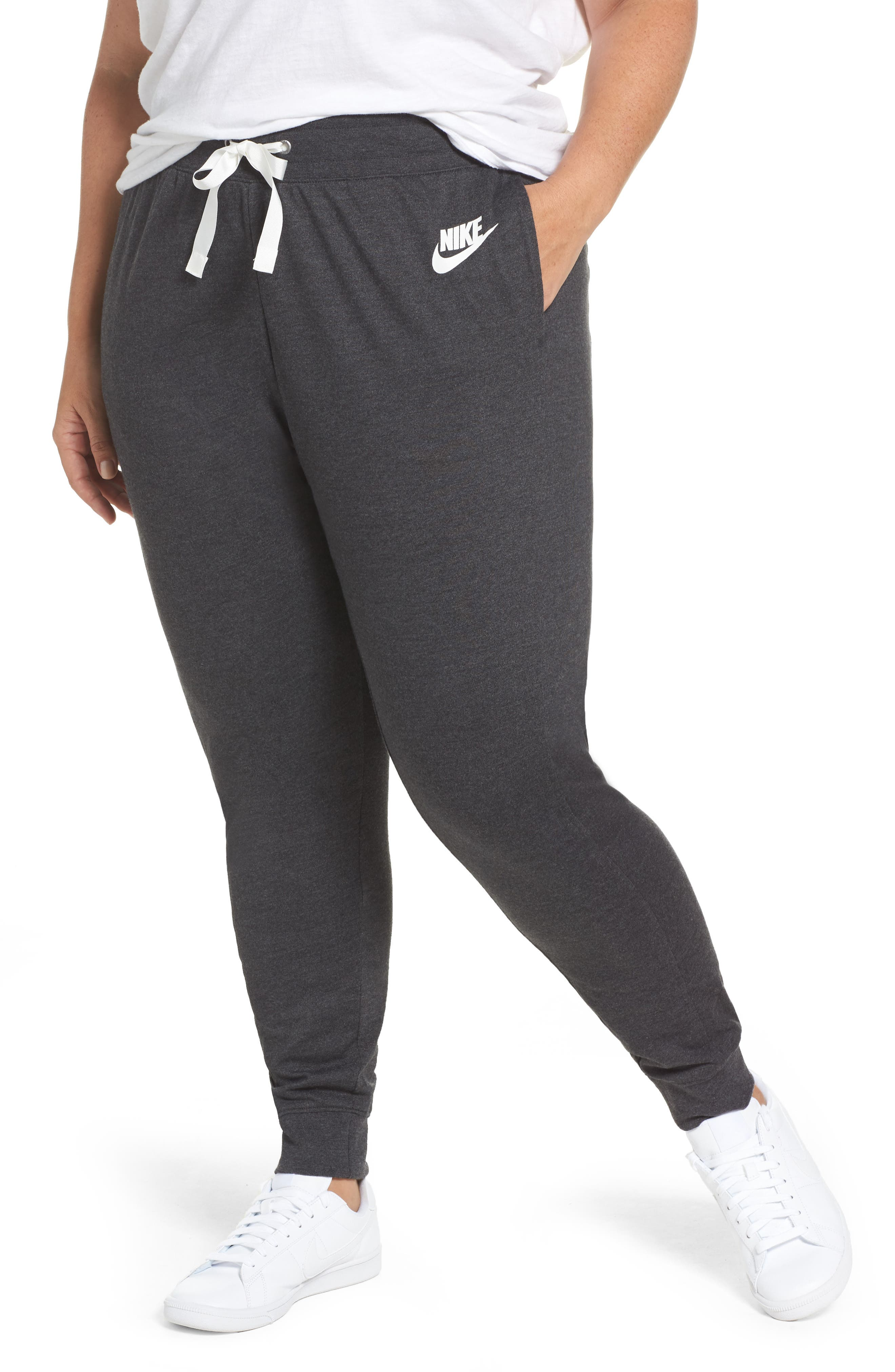 Sportswear Gym Classic Pants,                         Main,                         color, Black Heather/ Sail