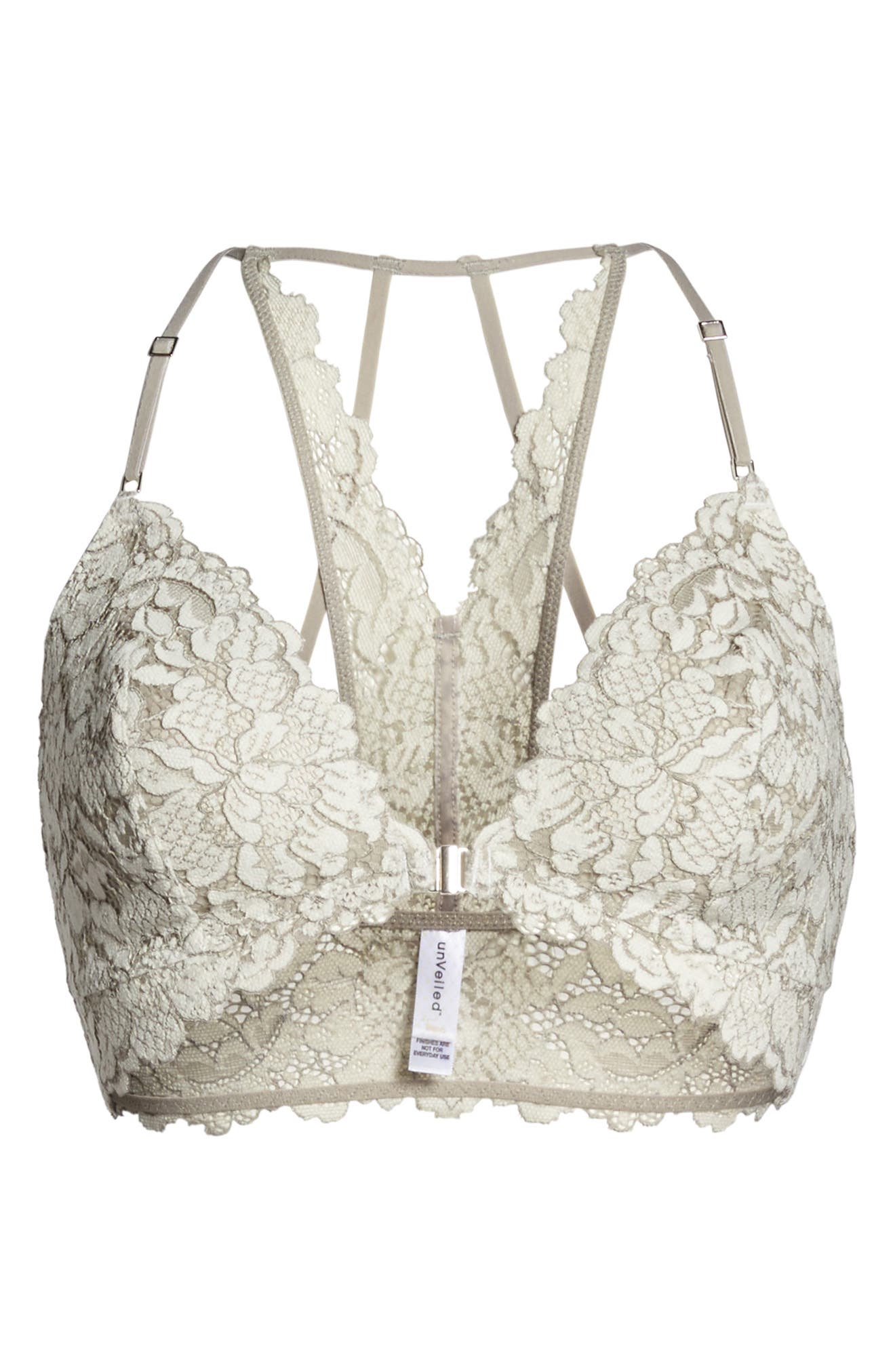 Romeo & Juliette Lace Bralette,                             Alternate thumbnail 4, color,                             Winter White