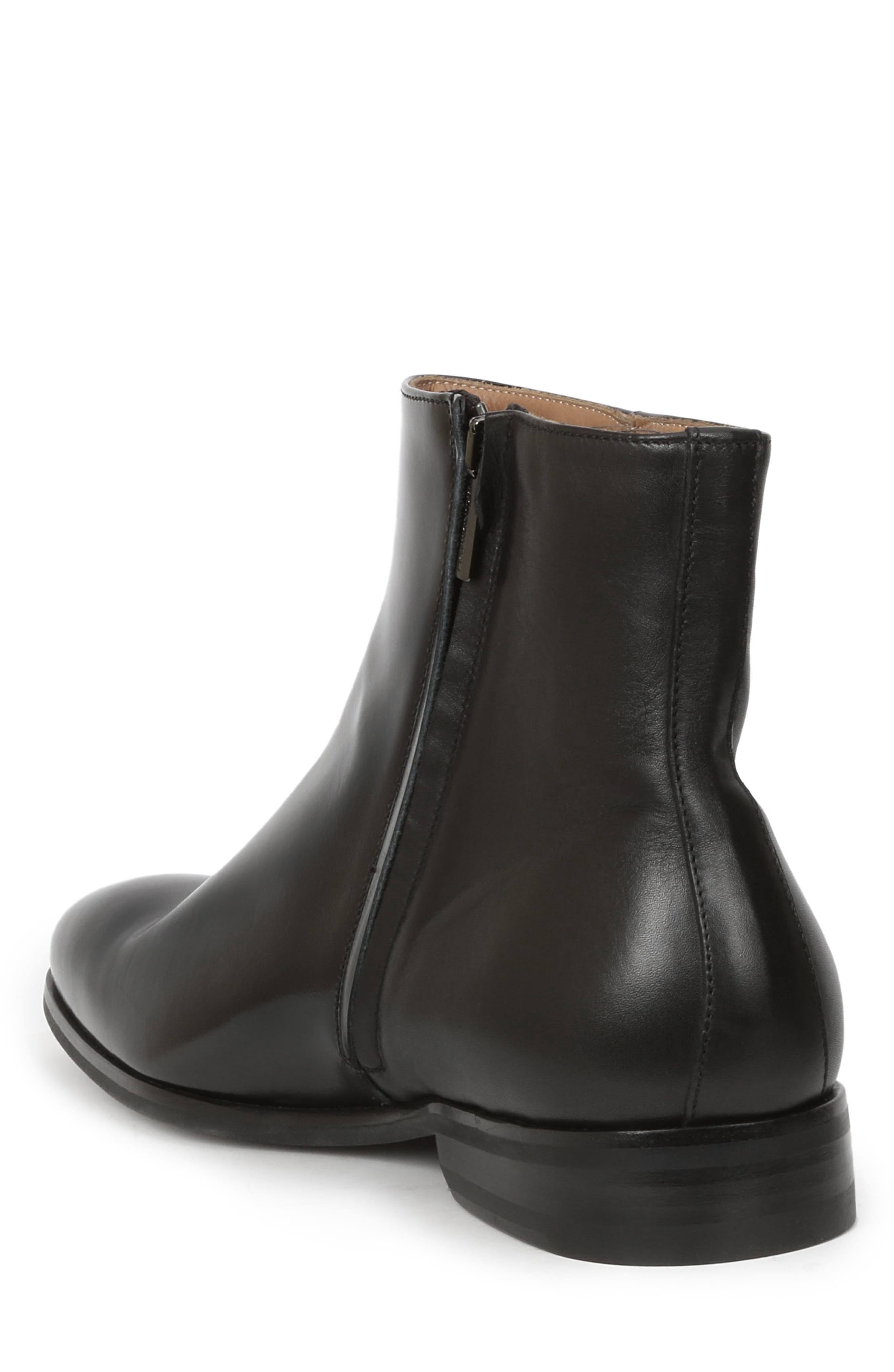 Nuncio Zip Boot,                             Alternate thumbnail 2, color,                             Black Leather