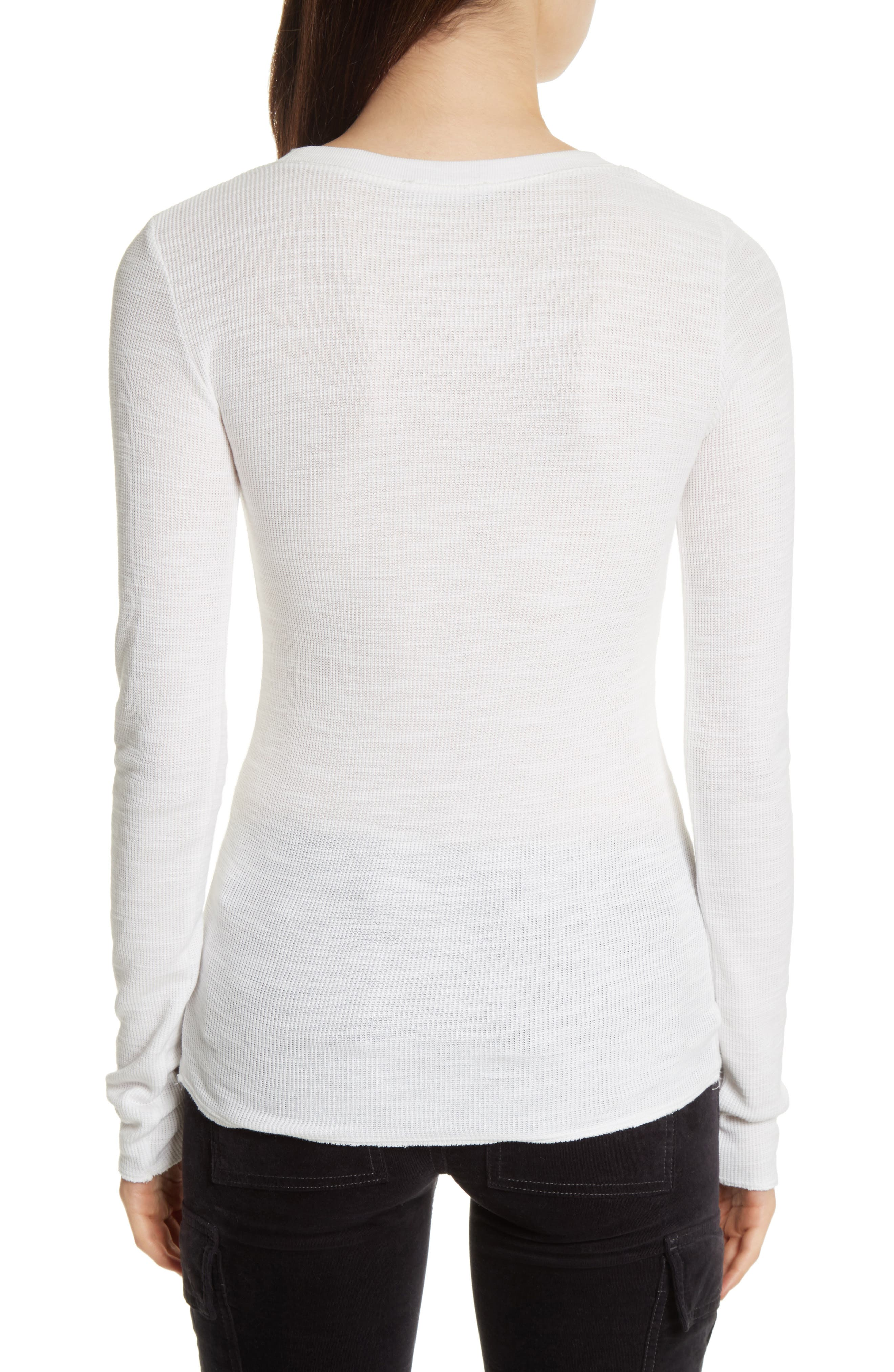 Long Sleeve Thermal Sweater,                             Alternate thumbnail 2, color,                             Off White