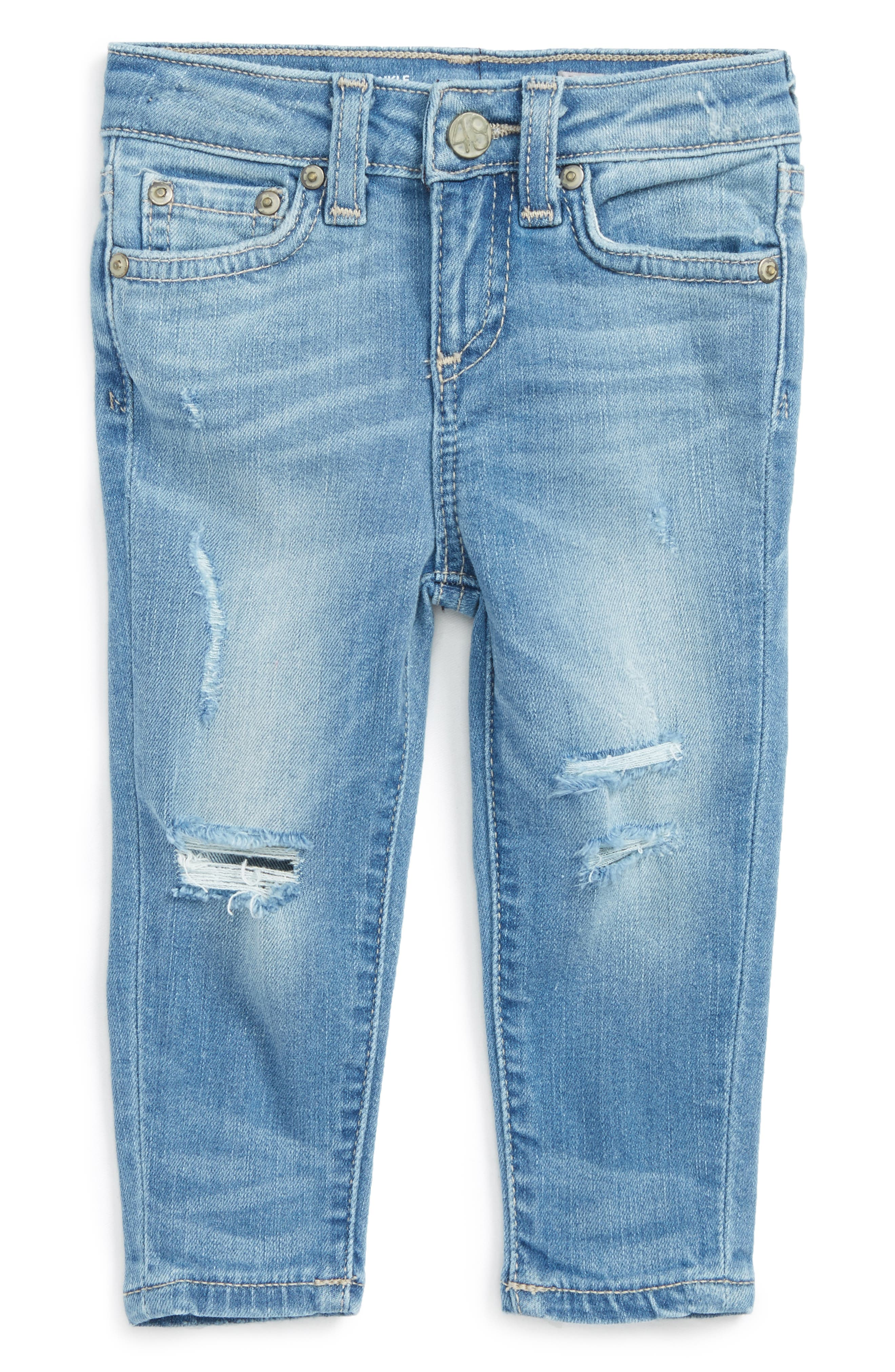 Alternate Image 1 Selected - ag adriano goldschmied kids Ankle Skinny Jeans (Baby Girls)