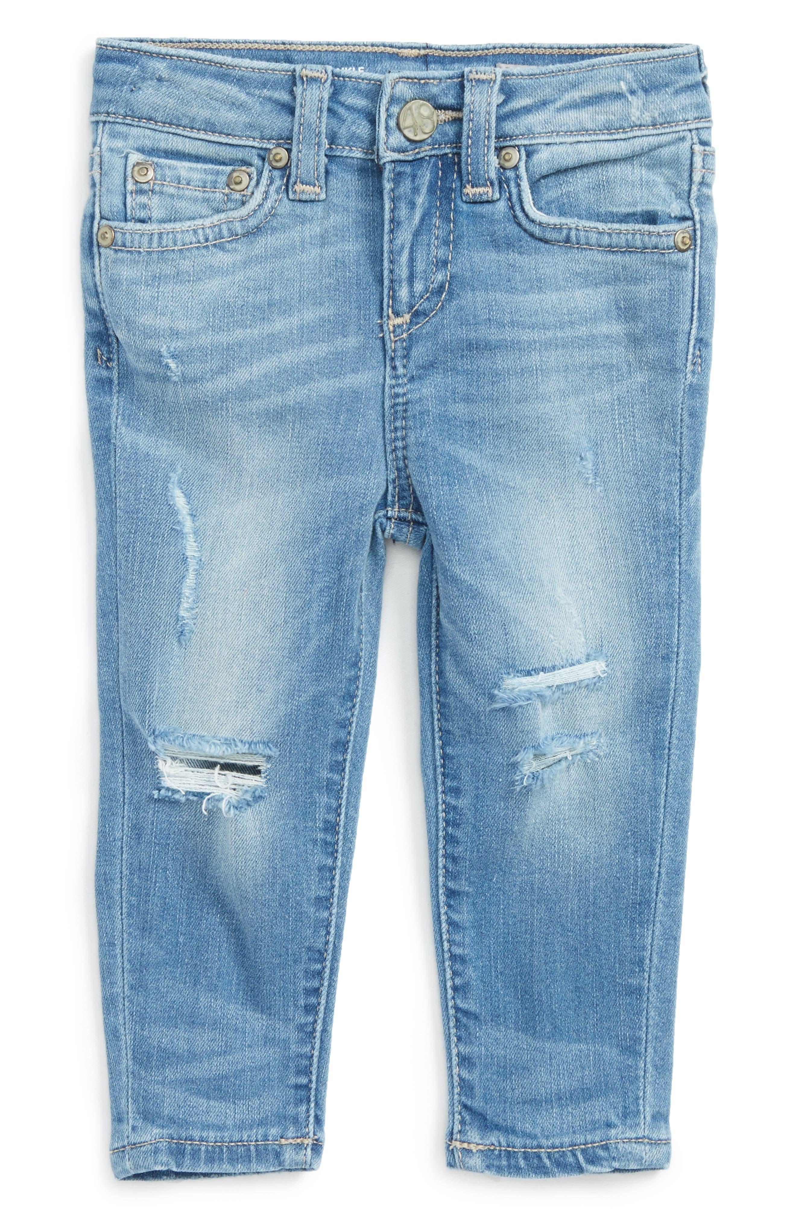 Ankle Skinny Jeans,                         Main,                         color, Lightening Blue