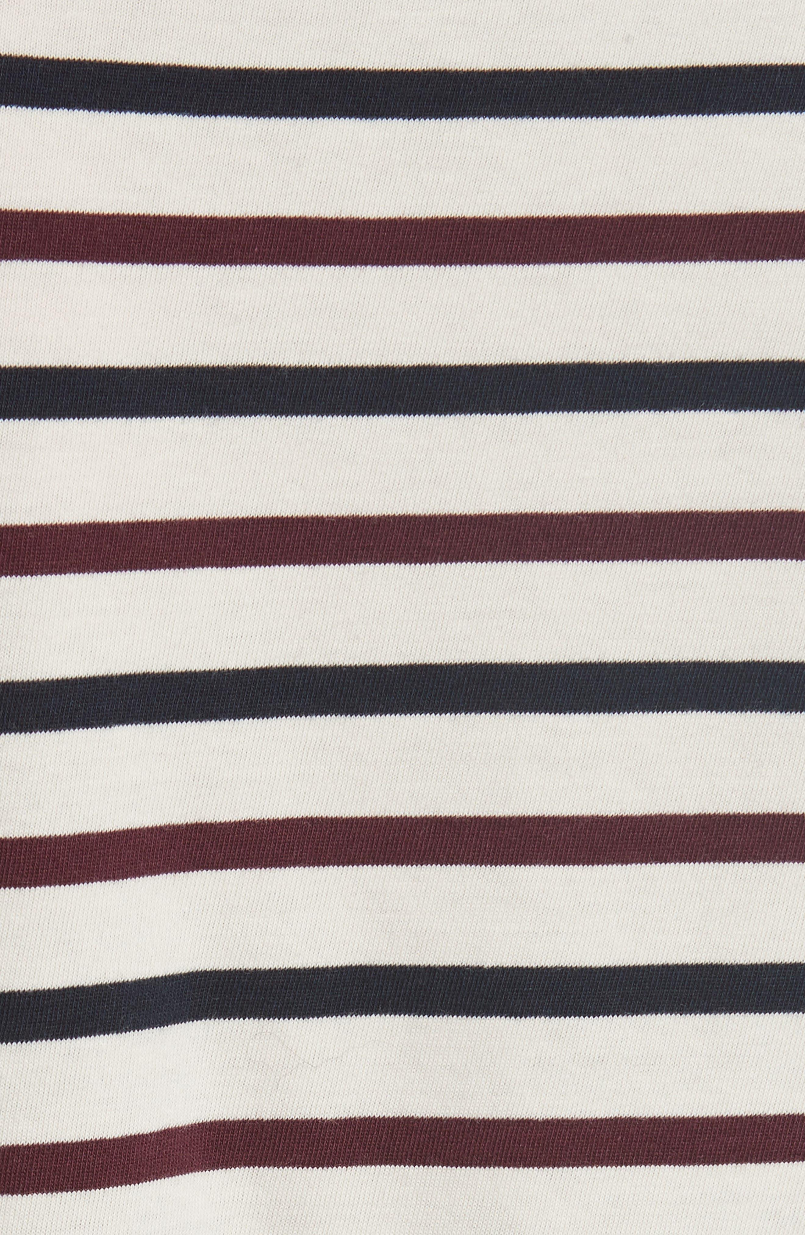 Alternate Image 5  - Kule The Modern Long Stripe Cotton Tee