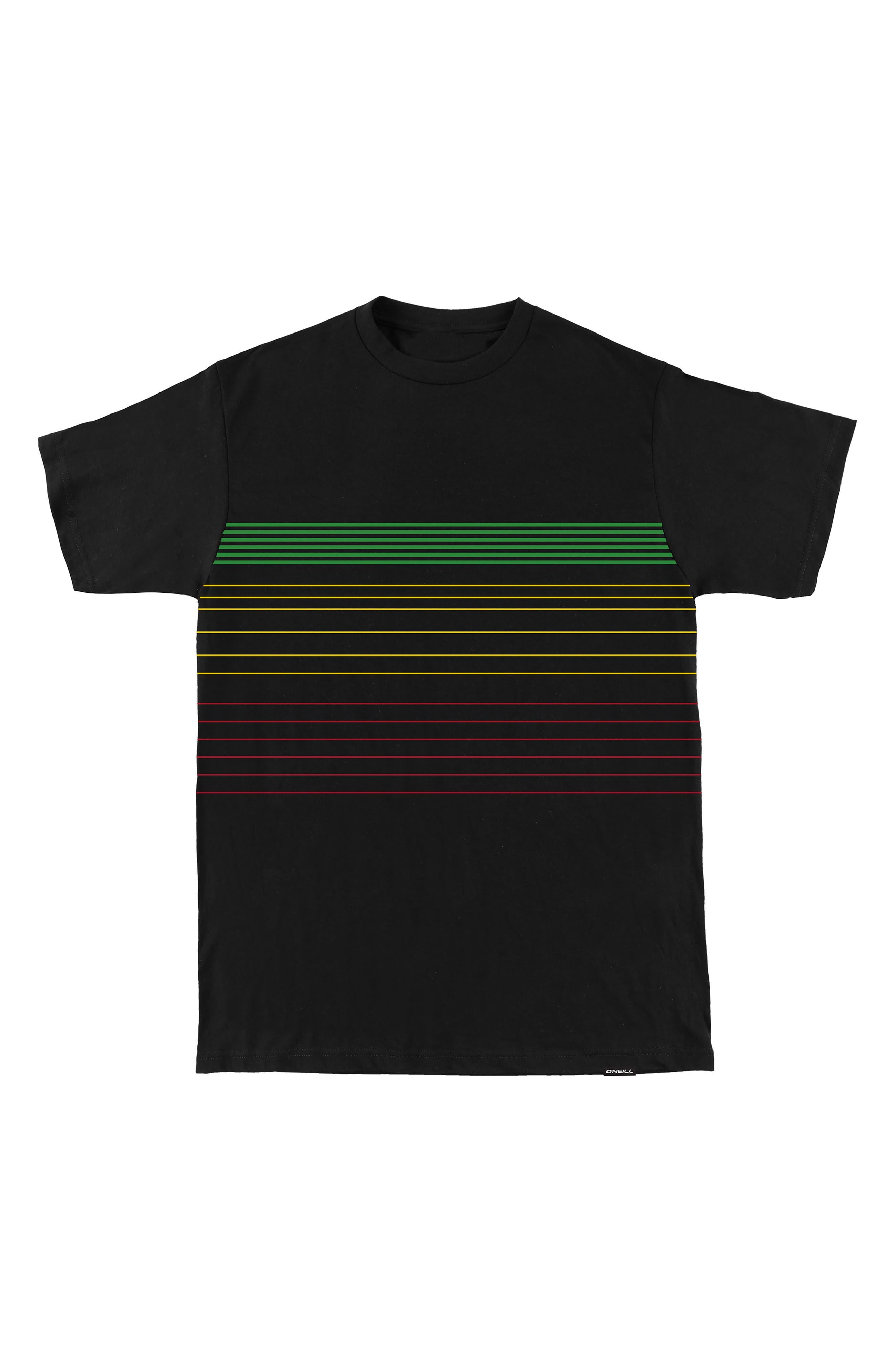 Alternate Image 1 Selected - O'Neill Santa Cruz Stripe T-Shirt (Big Boys)