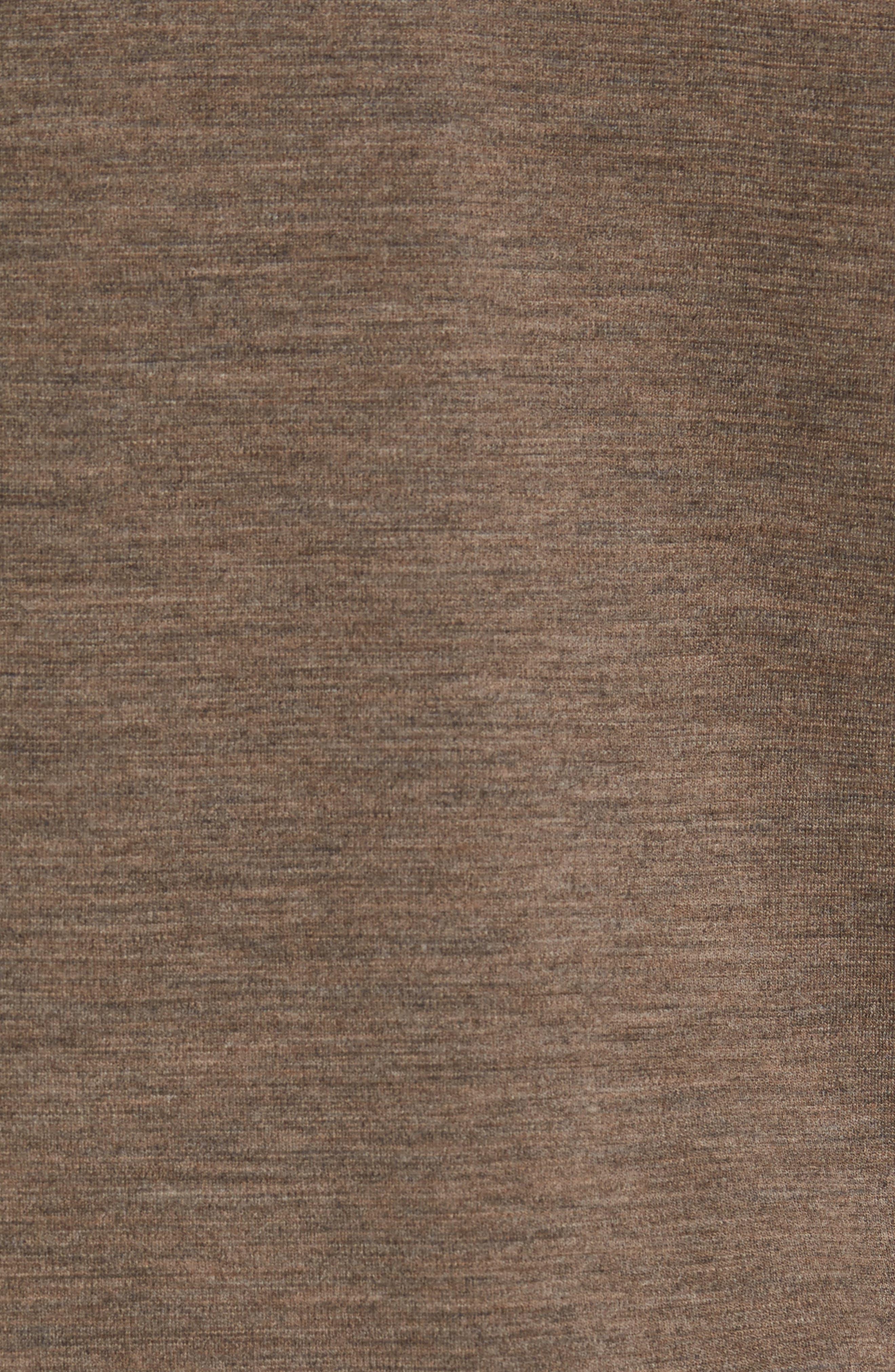 'Shak' Merino Wool Quarter Zip Top,                             Alternate thumbnail 5, color,                             Dark Rye Heather