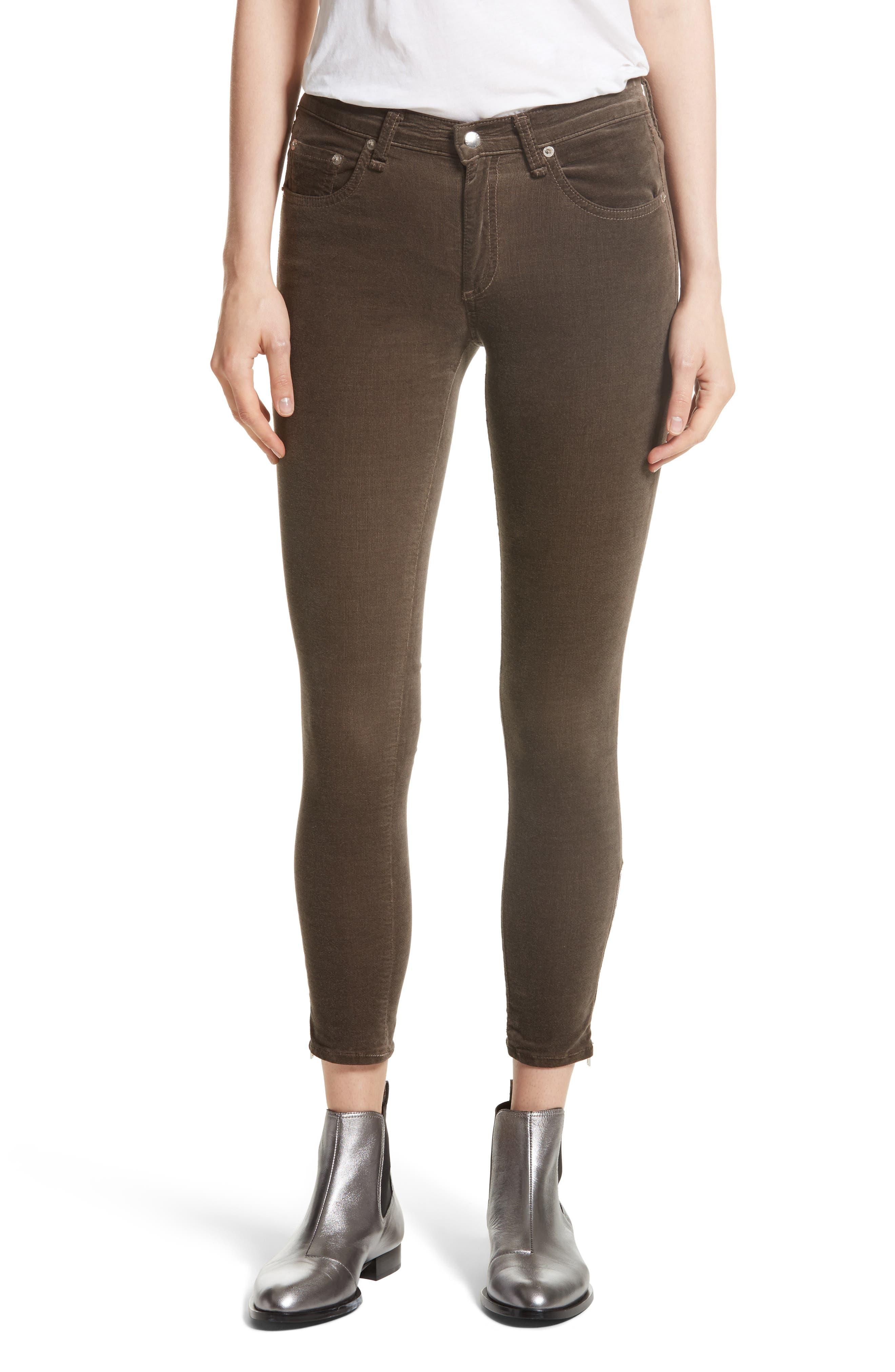 rag & bone/JEAN Ame Velvet Skinny Jeans