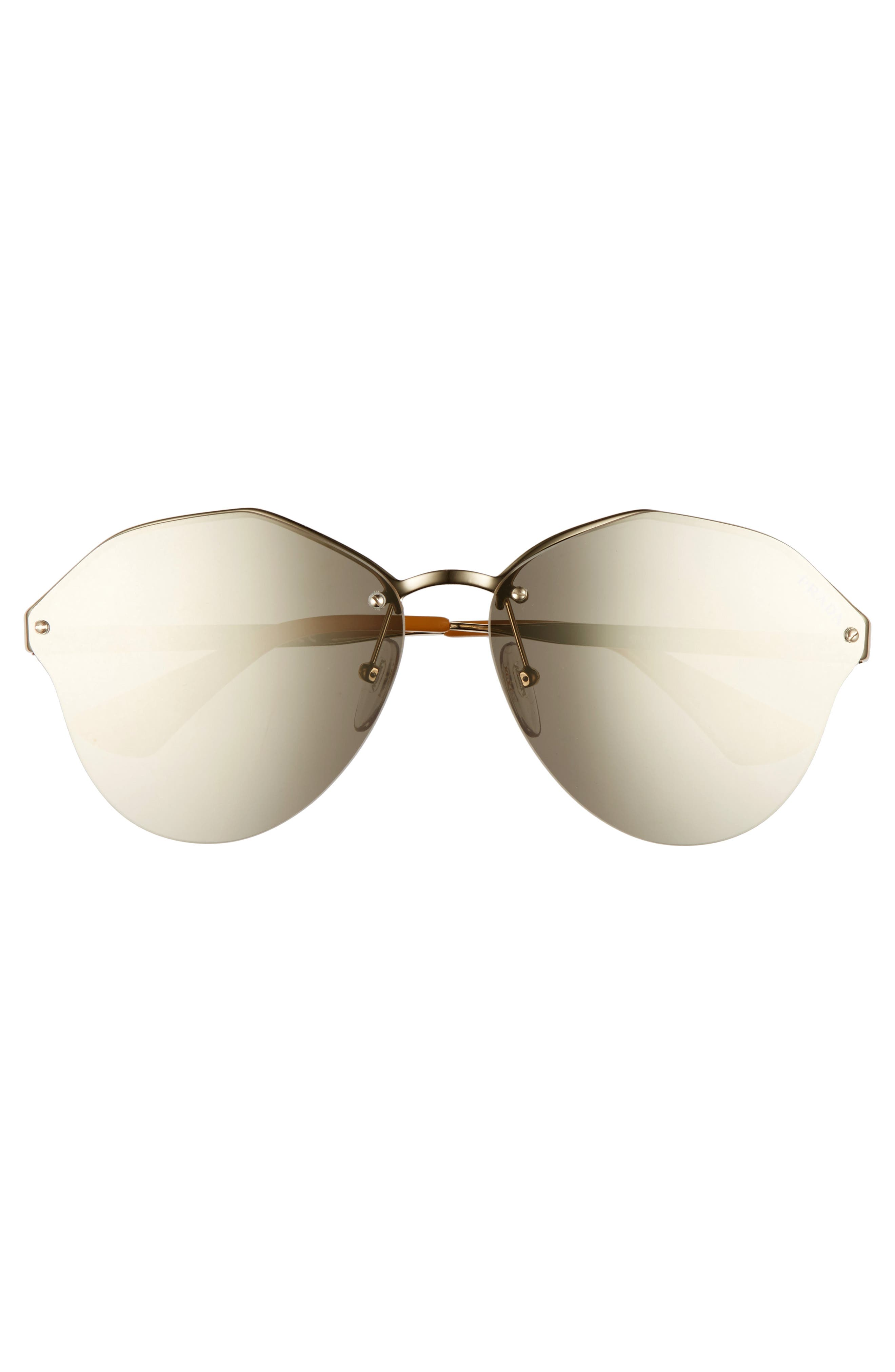 Alternate Image 2  - Prada 66mm Oversize Rimless Sunglasses