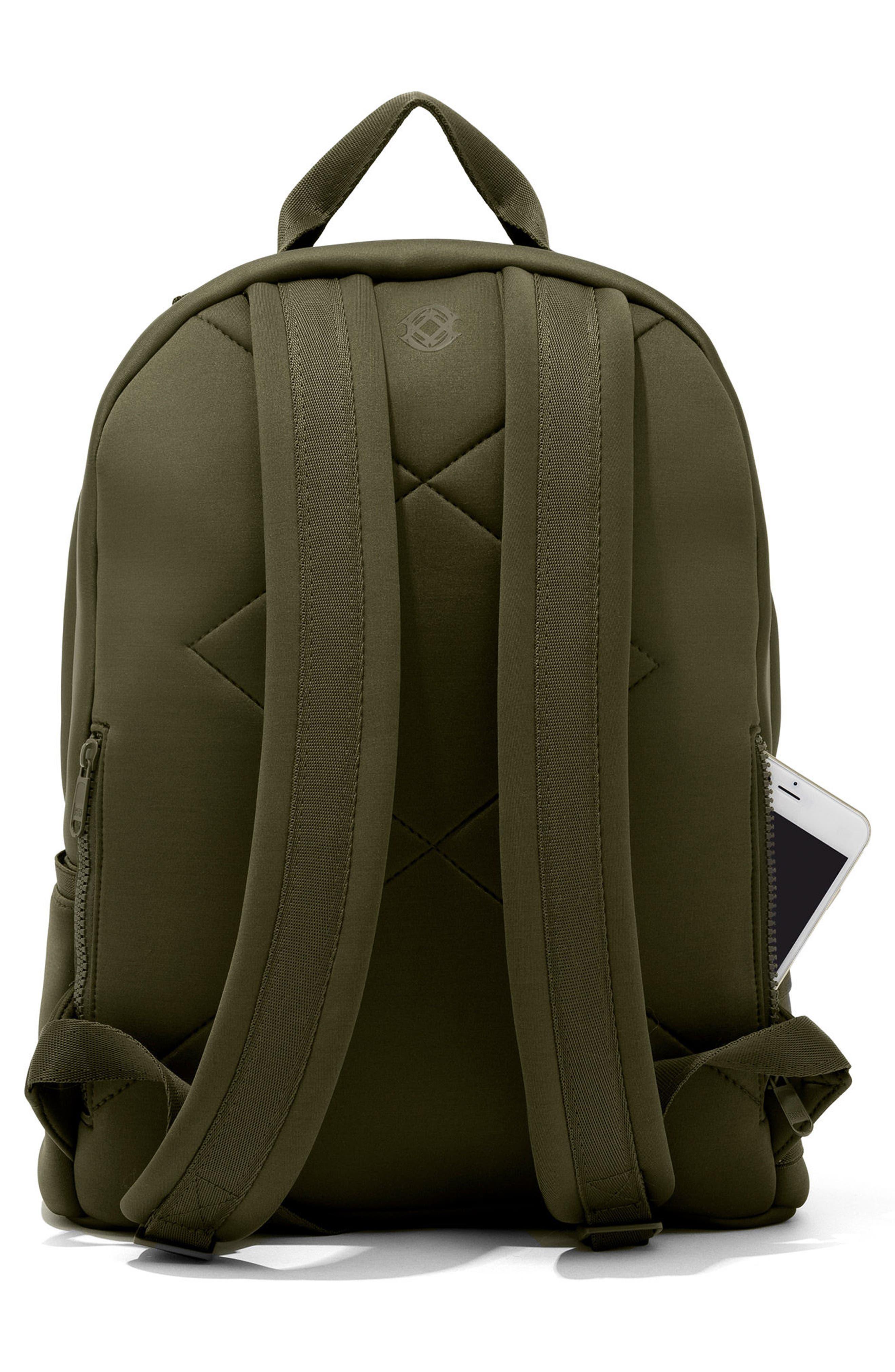 365 Dakota Neoprene Backpack,                             Alternate thumbnail 3, color,                             Dark Moss