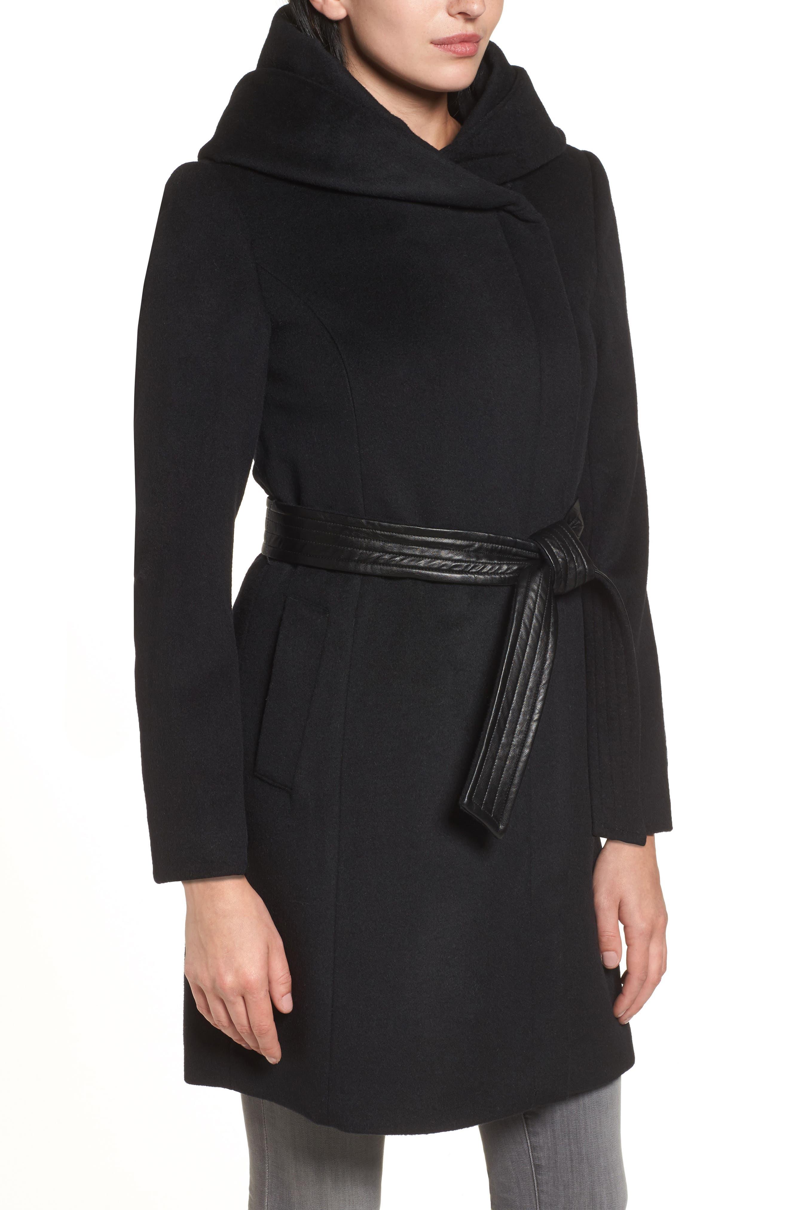 Alternate Image 3  - Cole Haan Belted Asymmetrical Wool Coat
