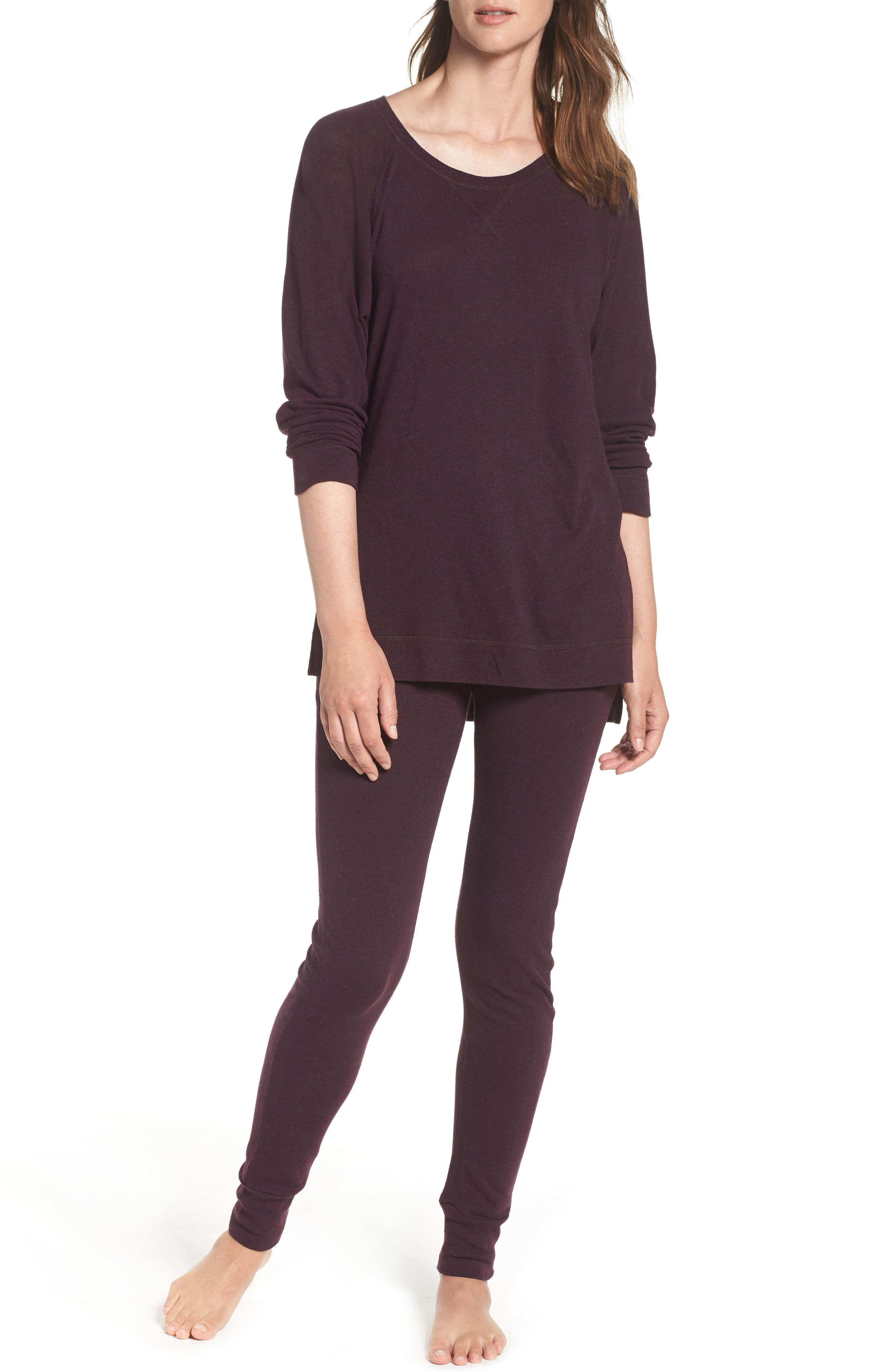 Alternate Image 4  - UGG® Clementine Cotton & Silk Pajama Pants
