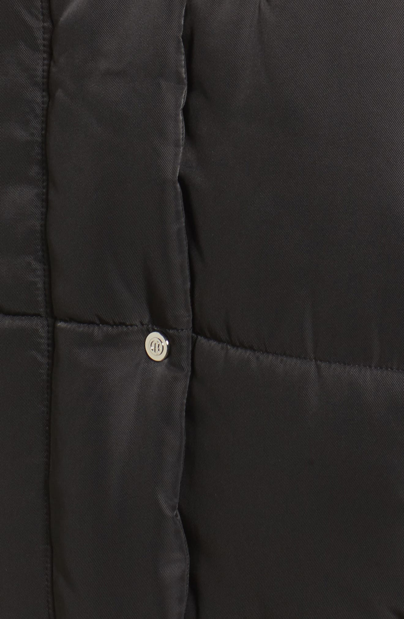 Oversize Puffer Jacket,                             Alternate thumbnail 5, color,                             Black