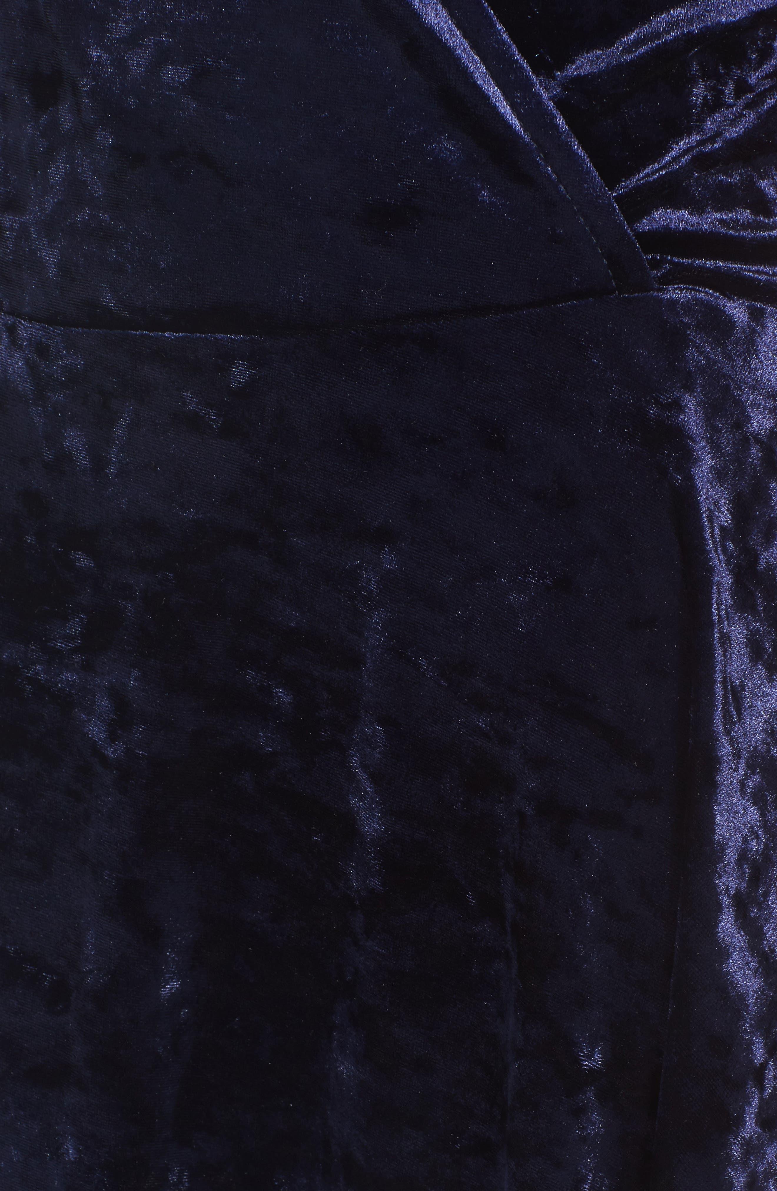Alternate Image 5  - Love, Fire Velvet Surplice Dress