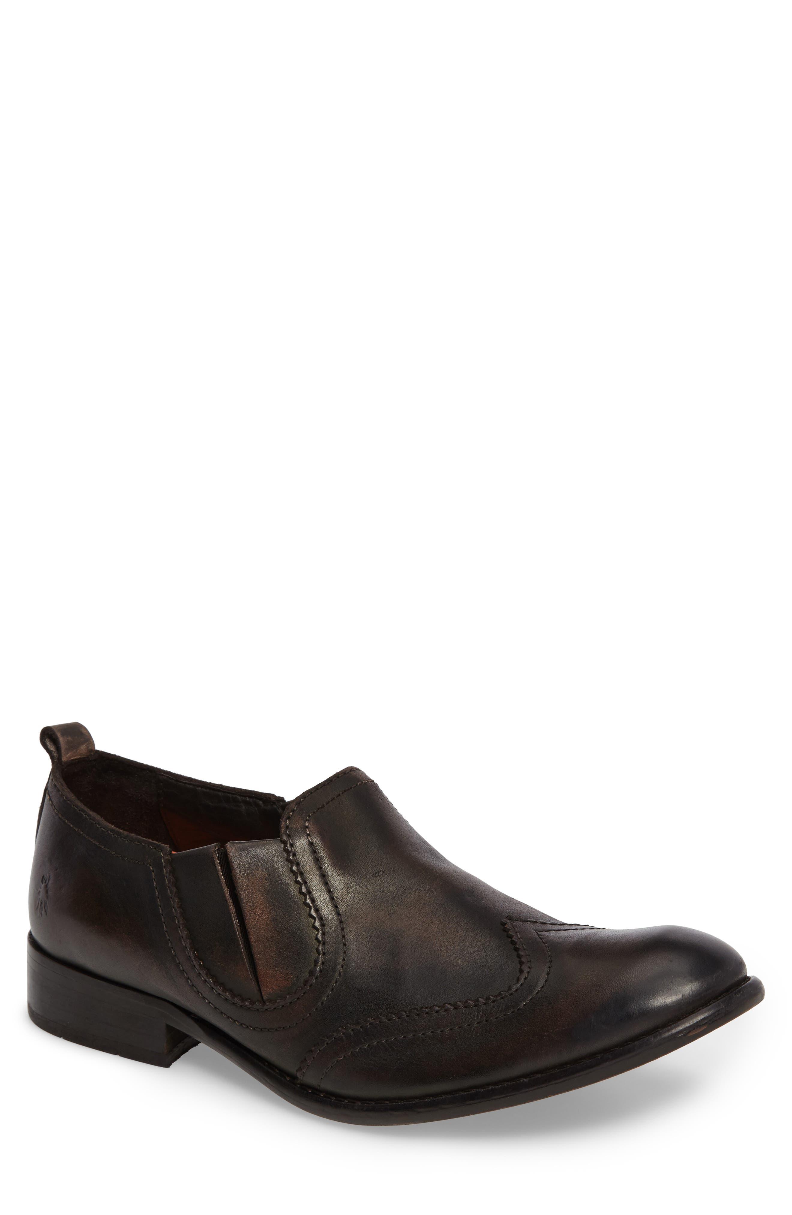 Wyat Wingtip Slip-On Loafer,                         Main,                         color, Dark Brown