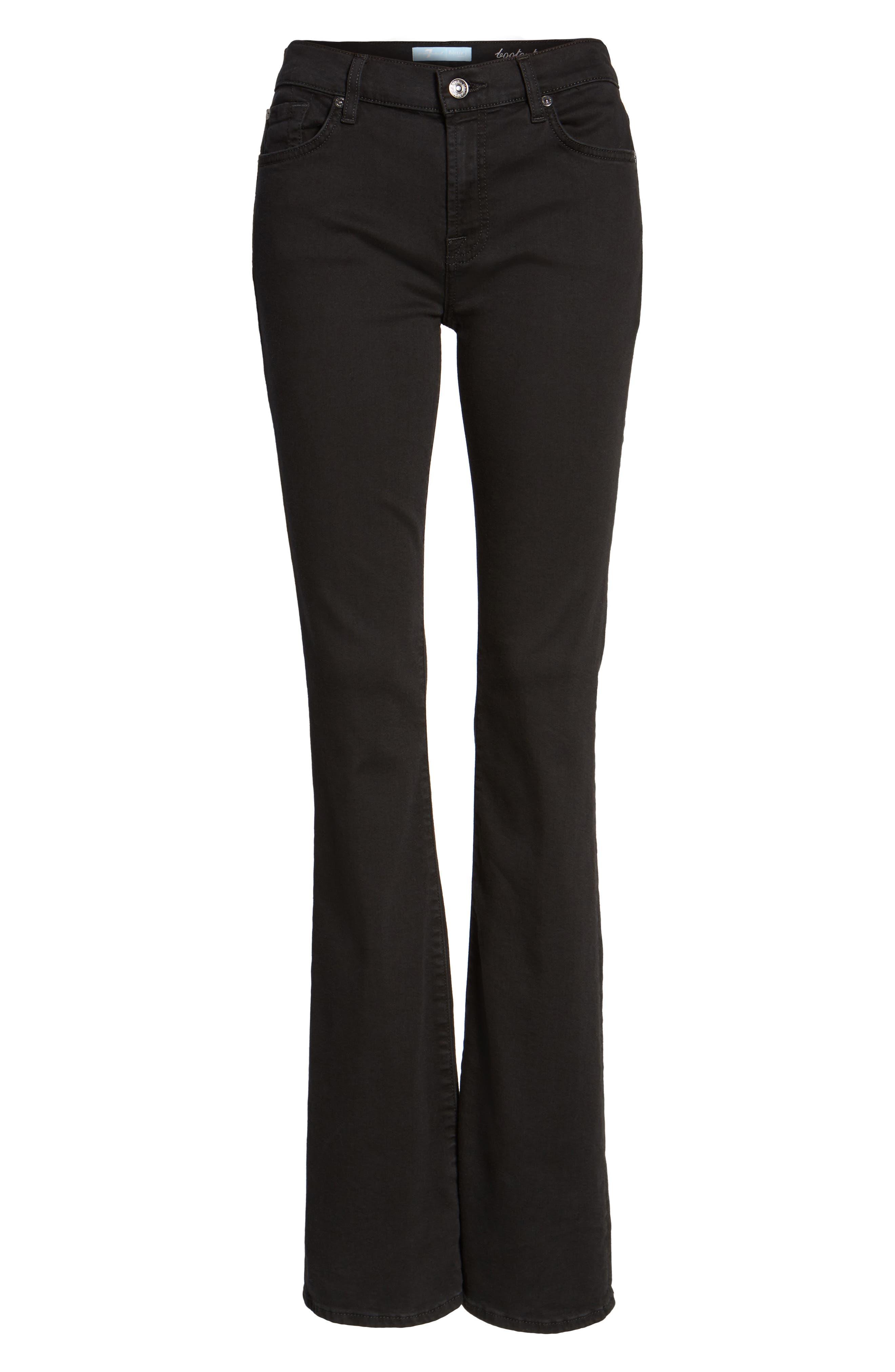 Alternate Image 6  - 7 For All Mankind® b(air) Bootcut Jeans (b(air) Black)