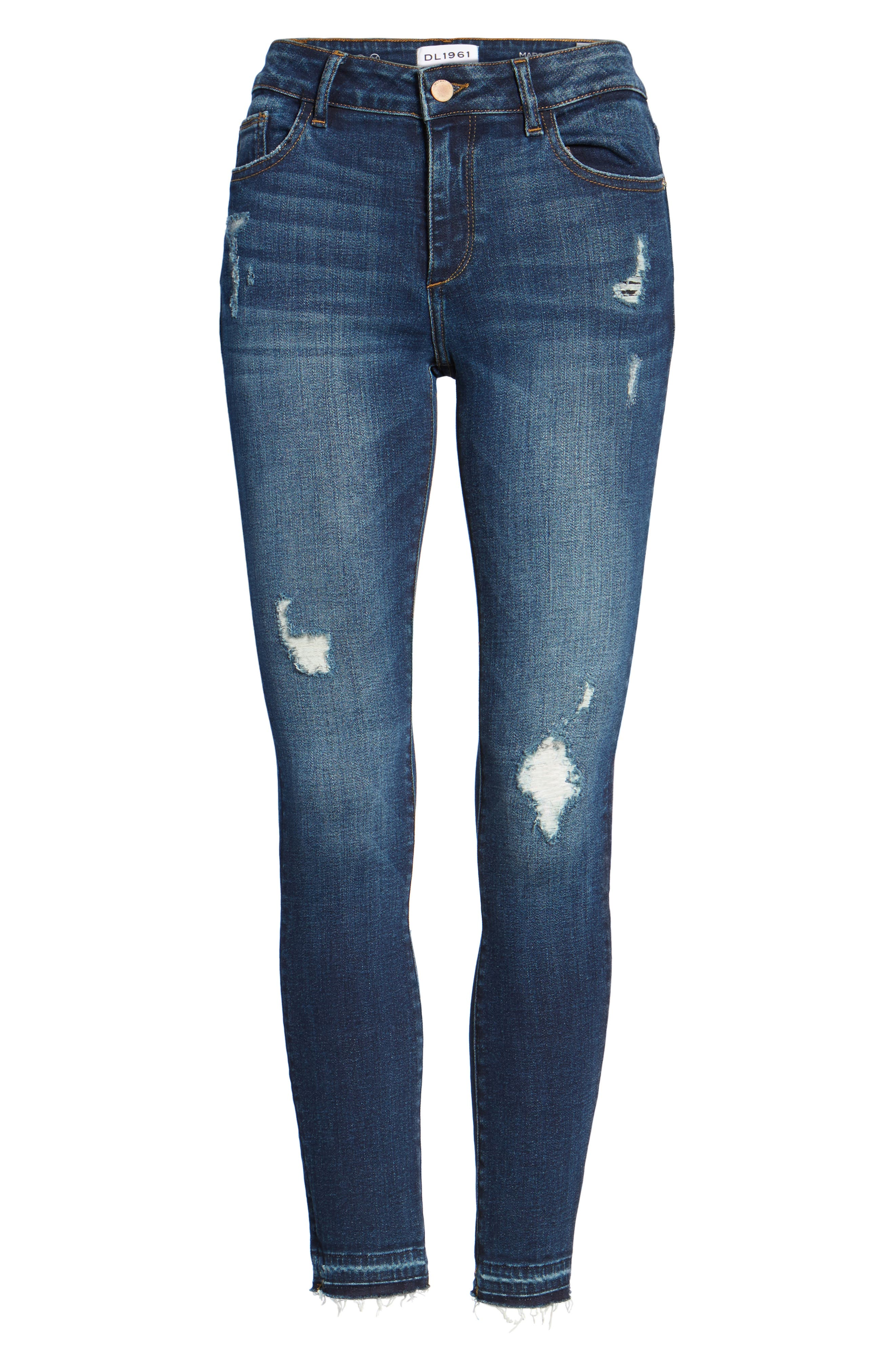 Margaux Instasculpt Ankle Skinny Jeans,                             Alternate thumbnail 6, color,                             Theila
