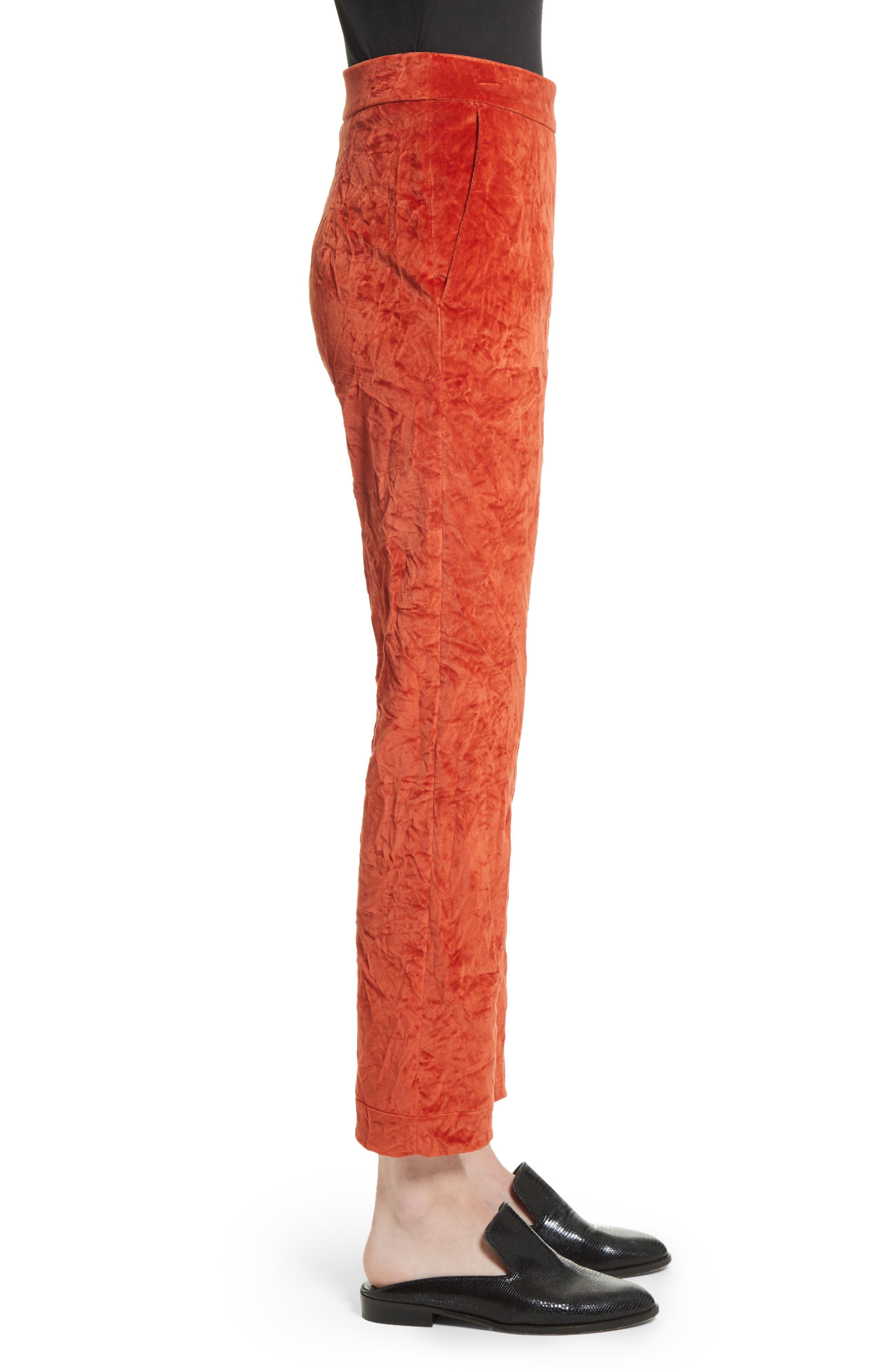 Alternate Image 3  - Isa Arfen Crushed Velvet Pants