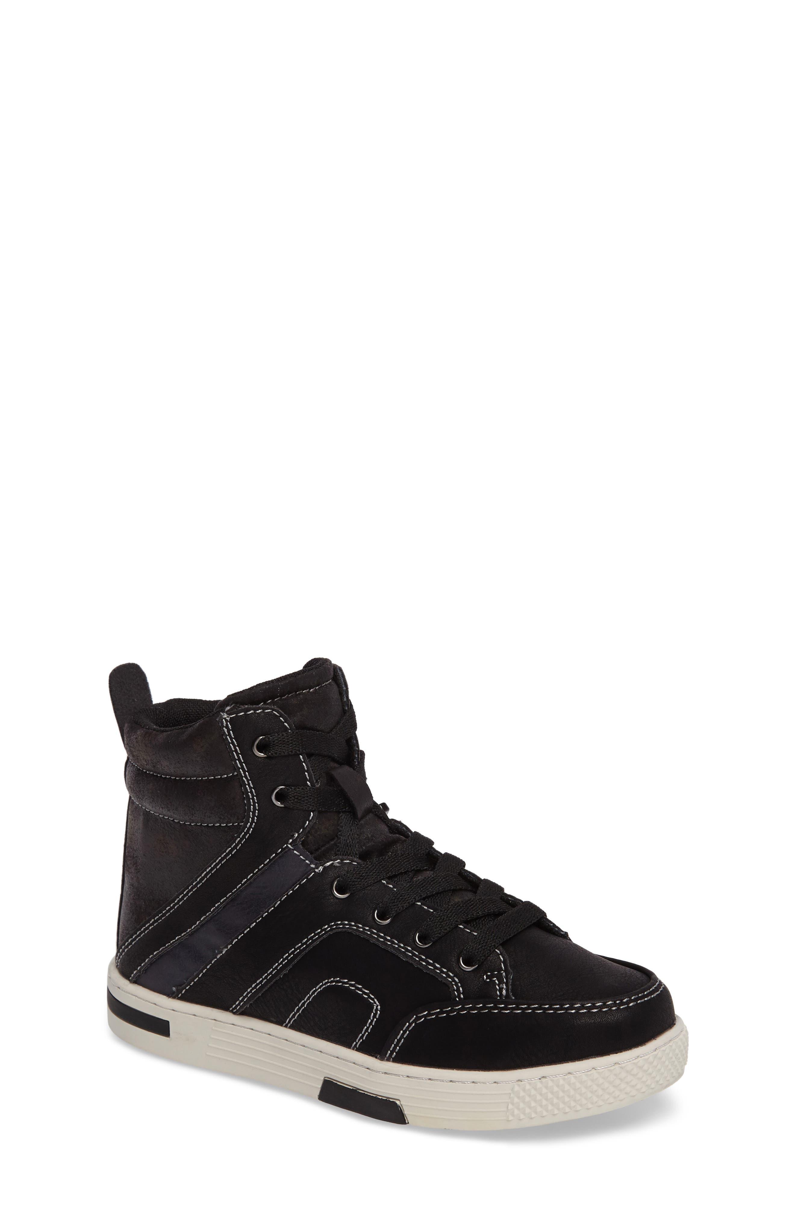 Cooler High Top Sneaker,                         Main,                         color, Black