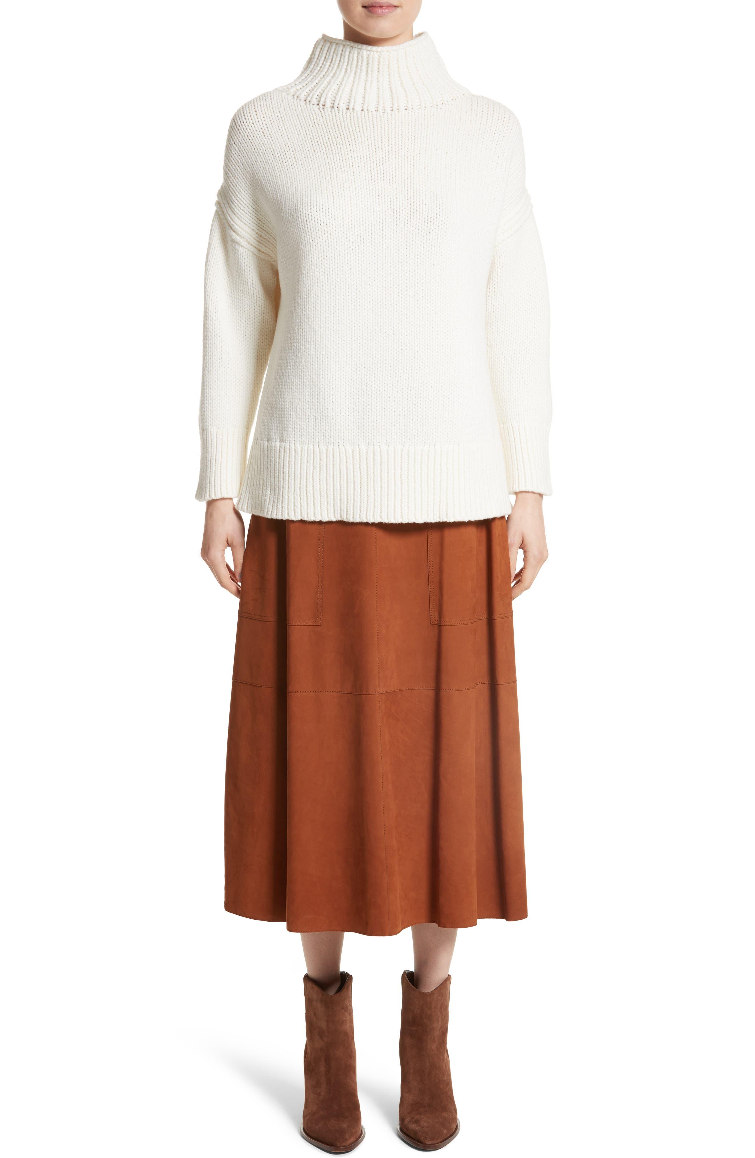 Alternate Image 7  - Lafayette 148 New York Rosella Leather Skirt