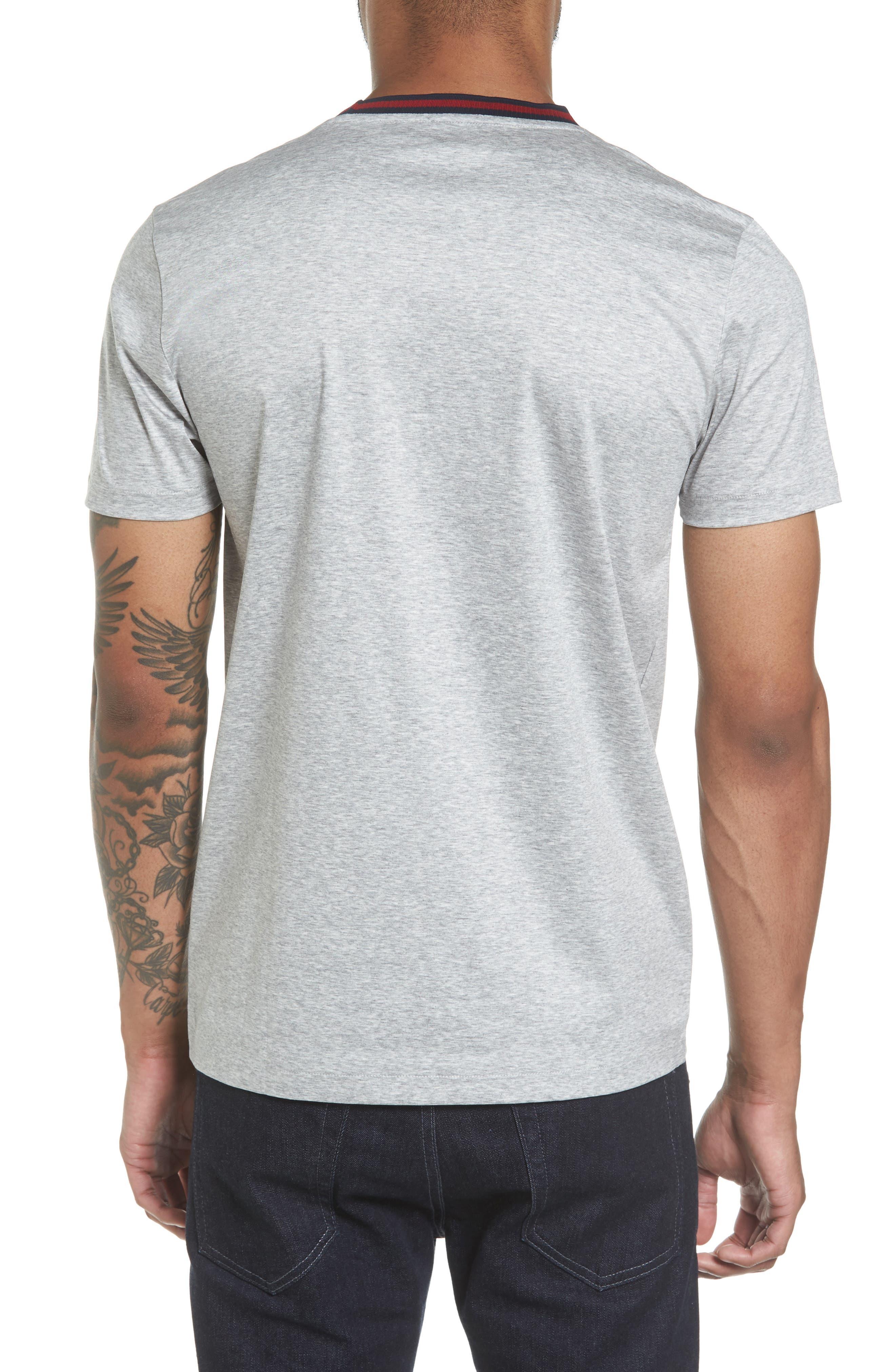 Alternate Image 2  - BOSS Tessler Slim Fit Ringer Neck T-Shirt