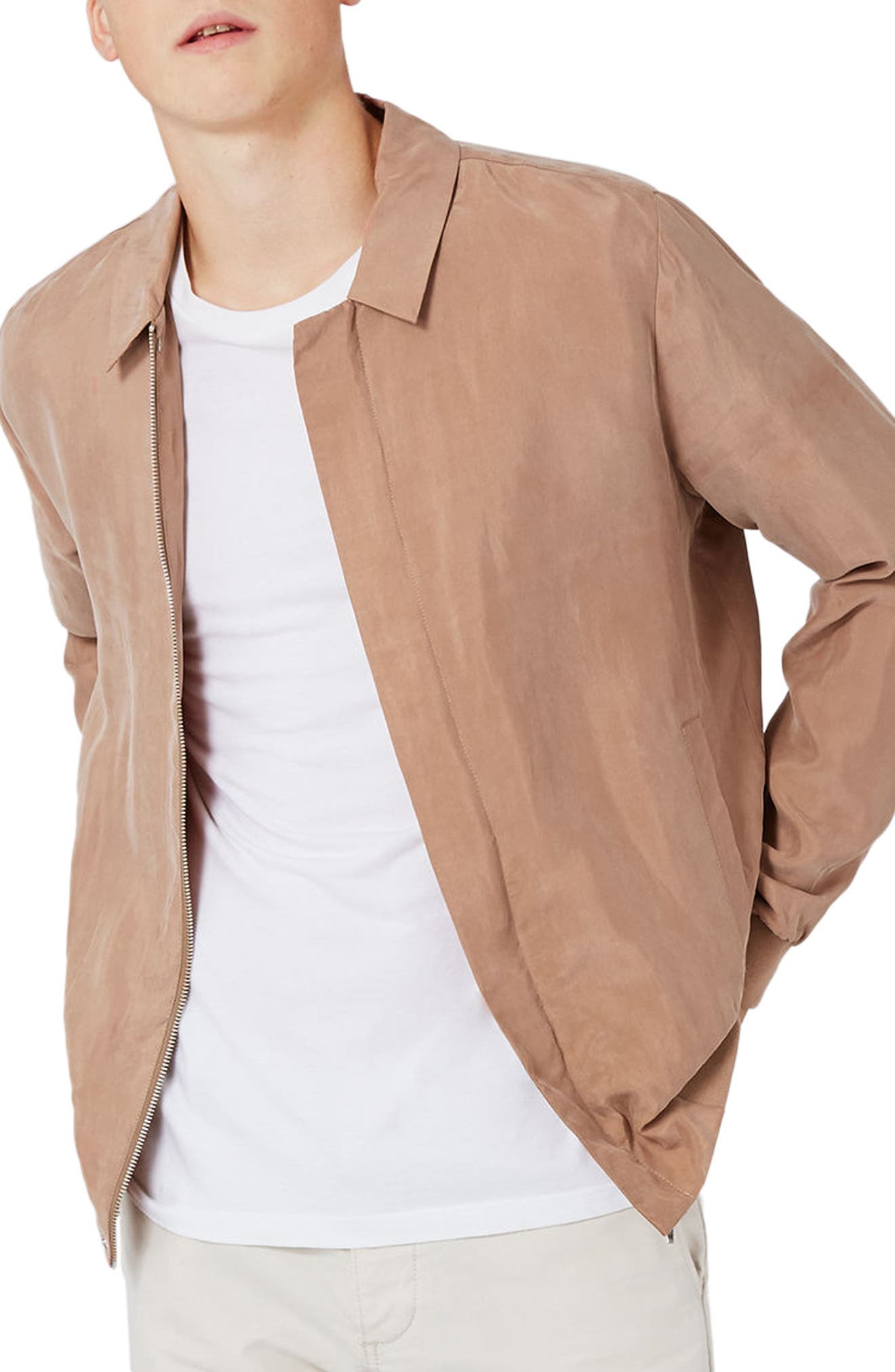 Coach's Bomber Jacket,                         Main,                         color, Pink