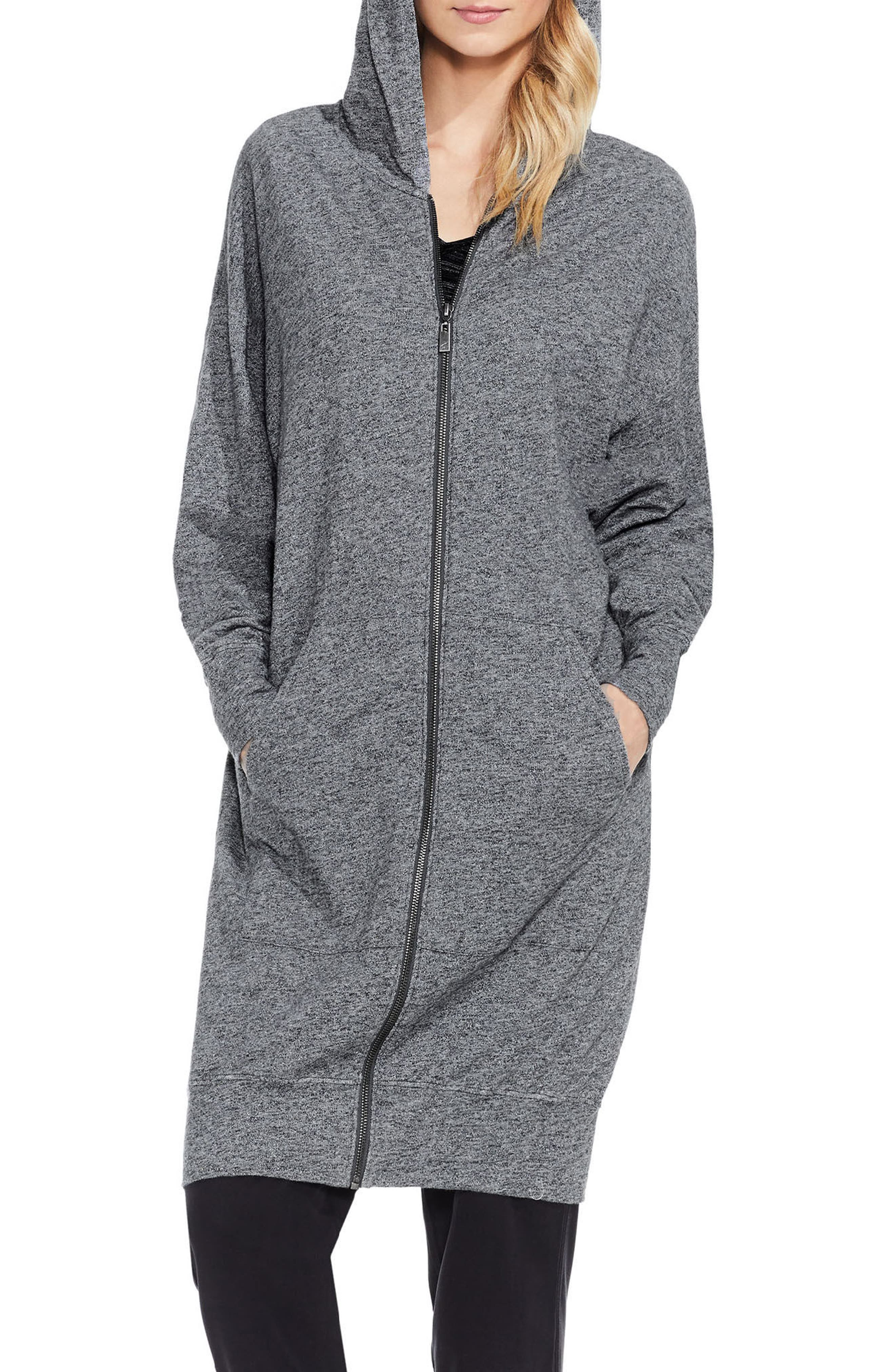 Alternate Image 4  - Two by Vince Camuto Long Hoodie