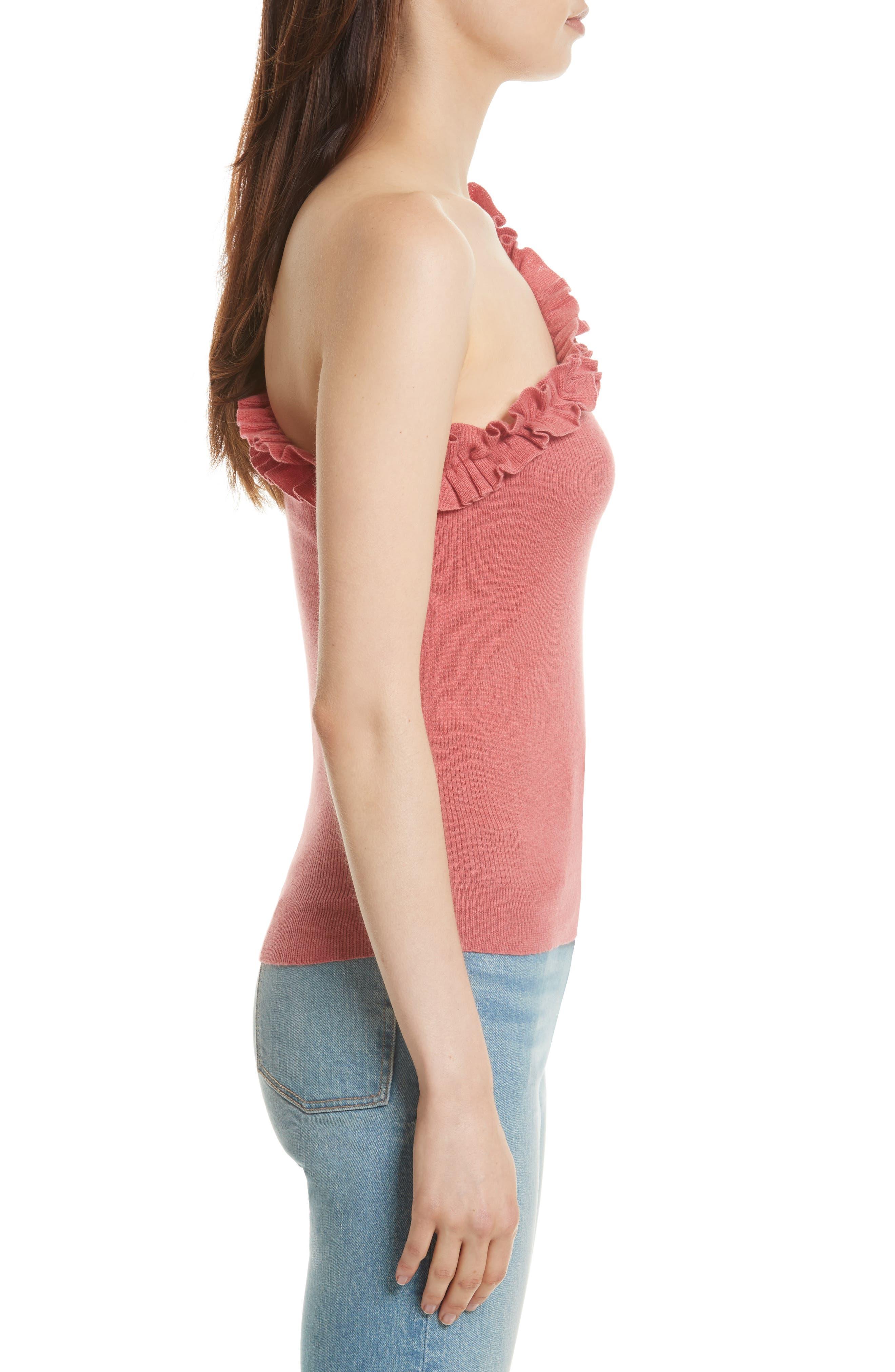 Alternate Image 3  - La Vie Rebecca Taylor Ruffle One-Shoulder Top