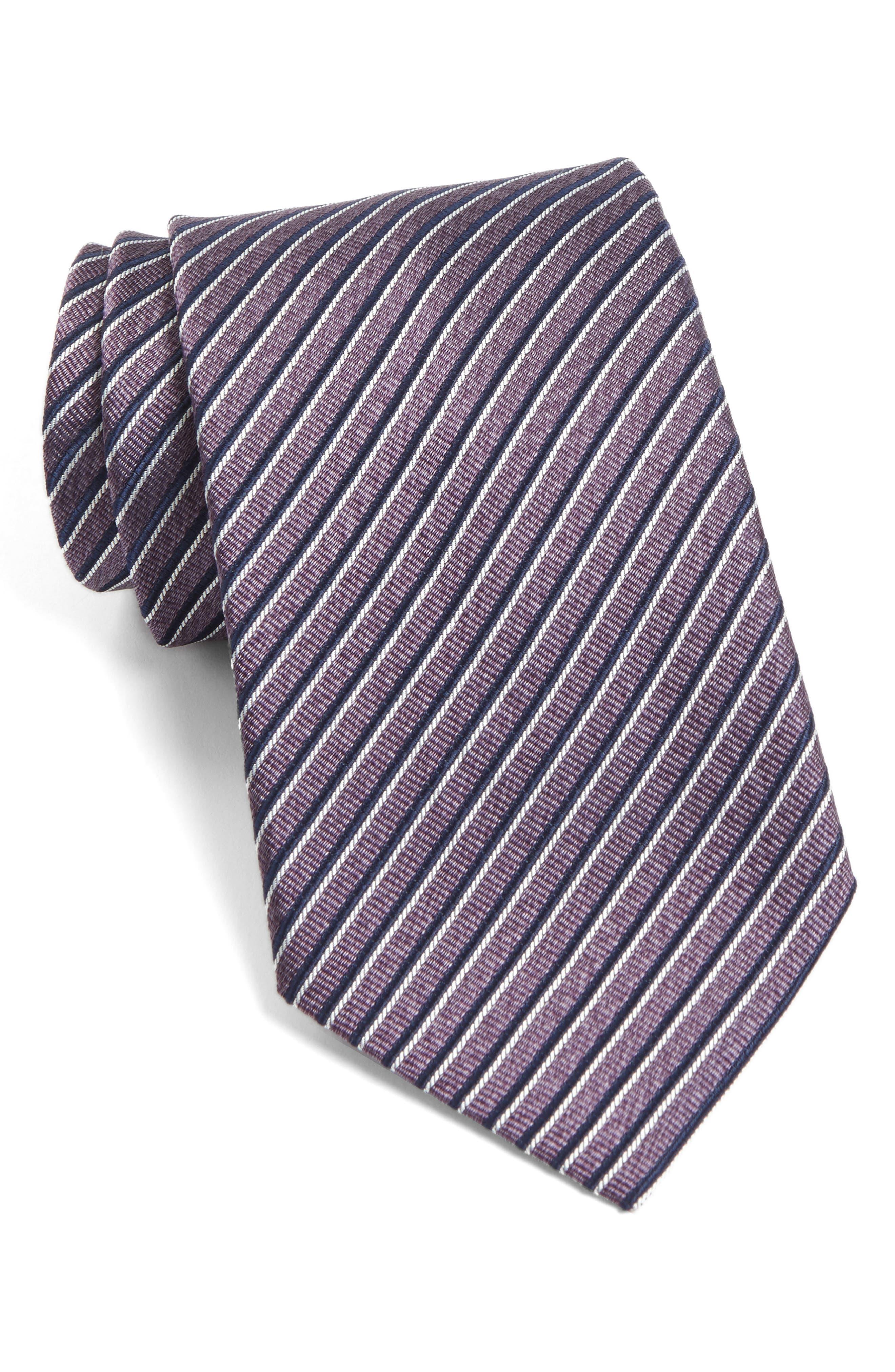 Main Image - John Varvatos Star USA Stripe Silk Tie