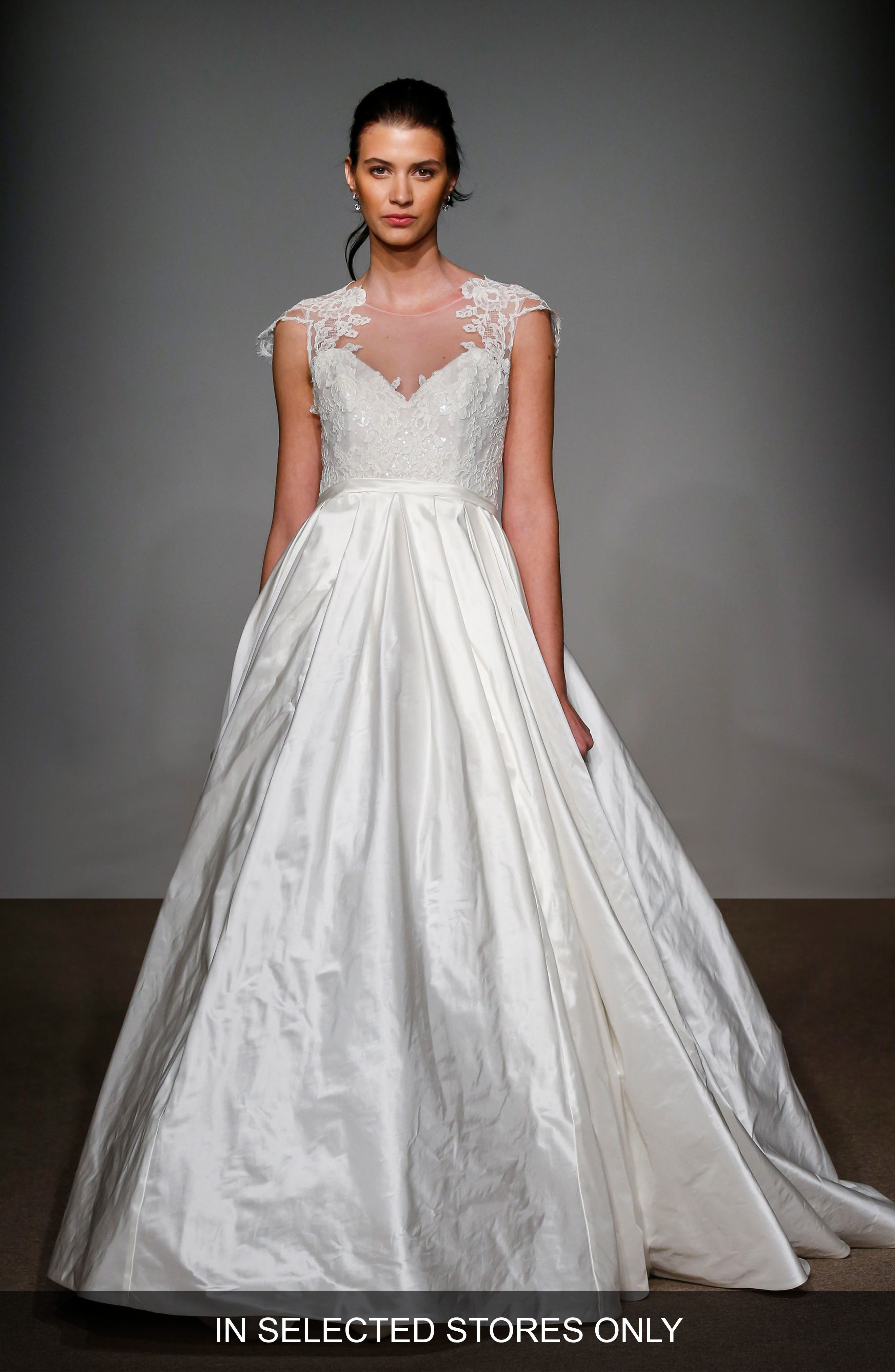 Main Image - Anna Maier Couture Renee Embellished Silk Taffeta Gown