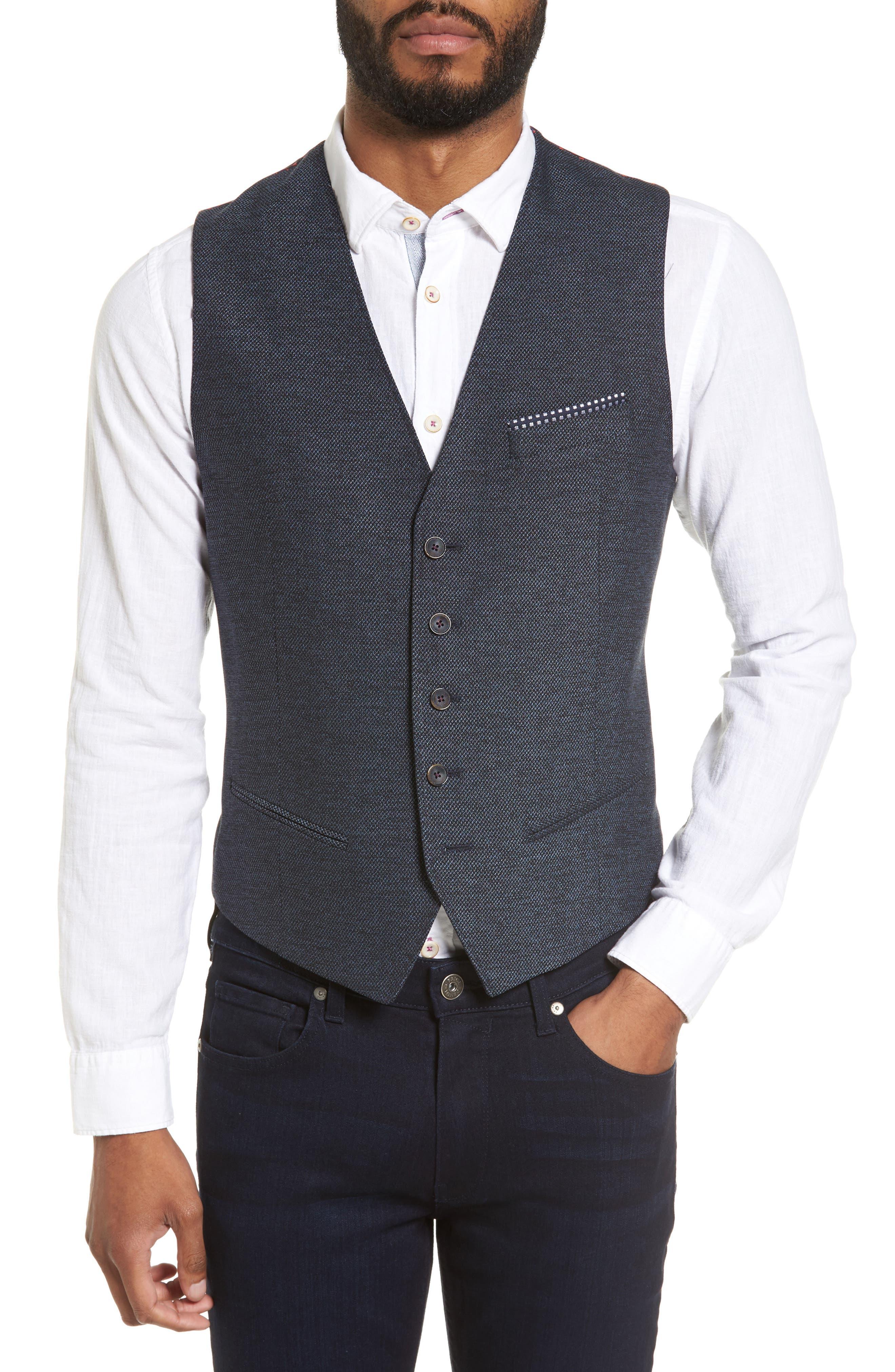 TED BAKER LONDON Portwai Semi Plain Vest