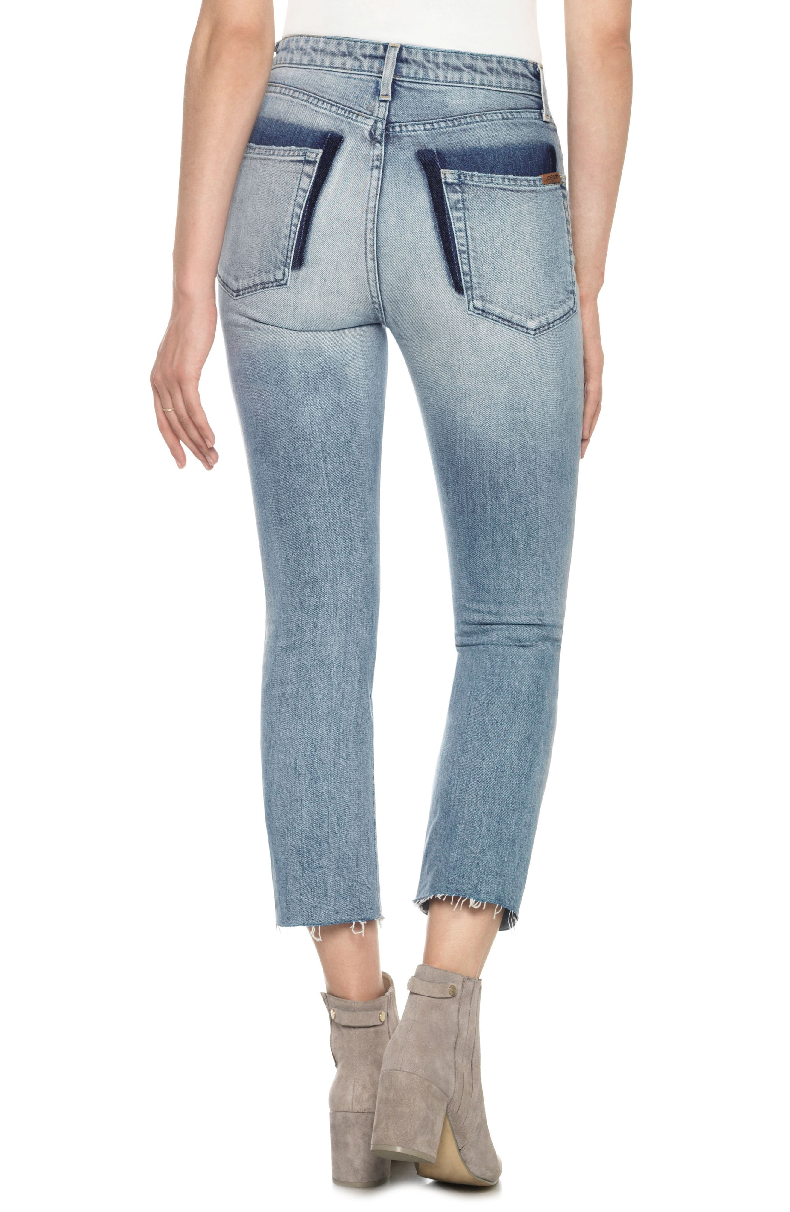 Alternate Image 2  - Joe's Debbie High Waist Crop Boyfriend Jeans (Kamryn)