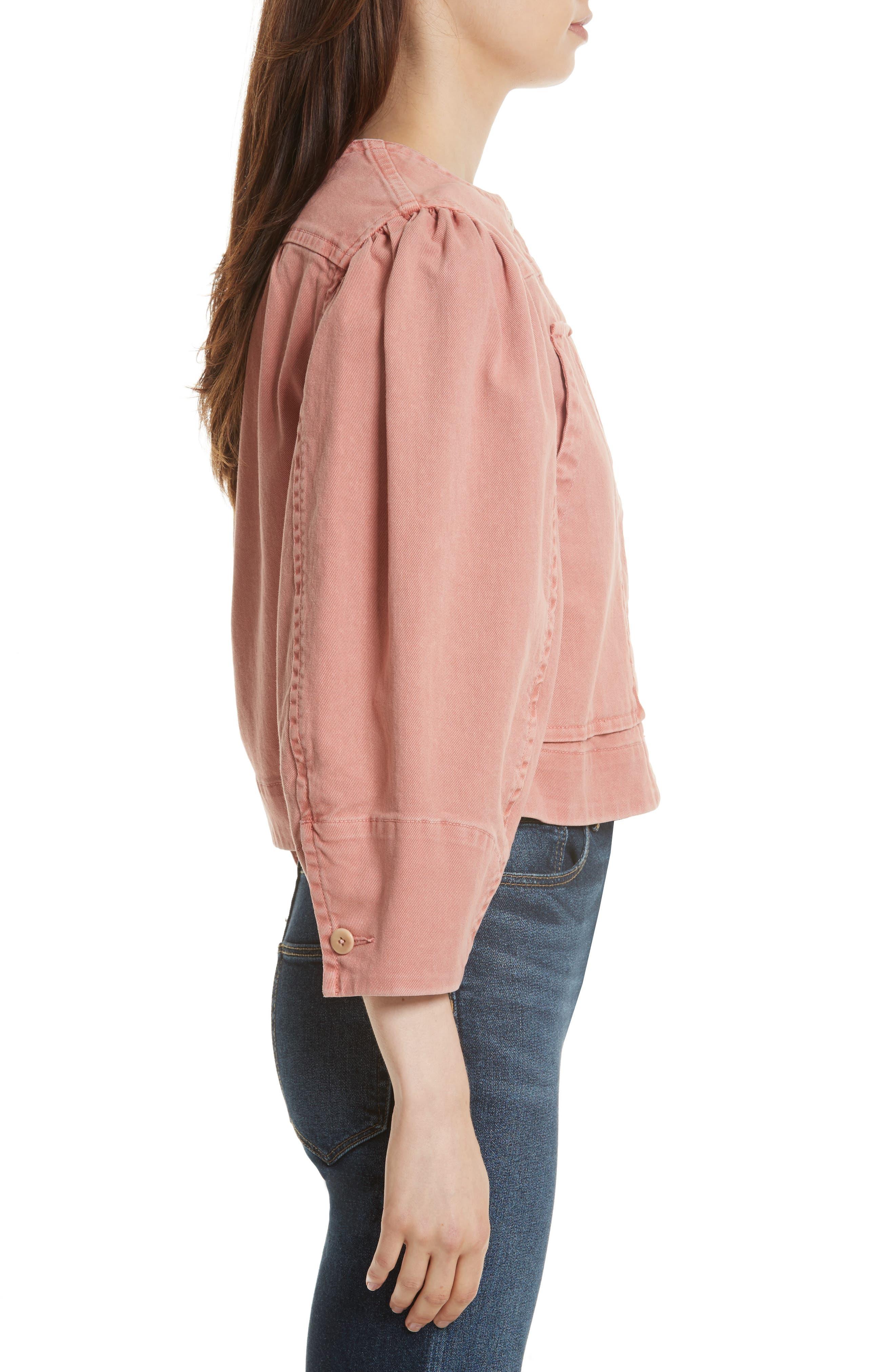 Alternate Image 3  - La Vie Rebecca Taylor Garment Dyed Twill Jacket