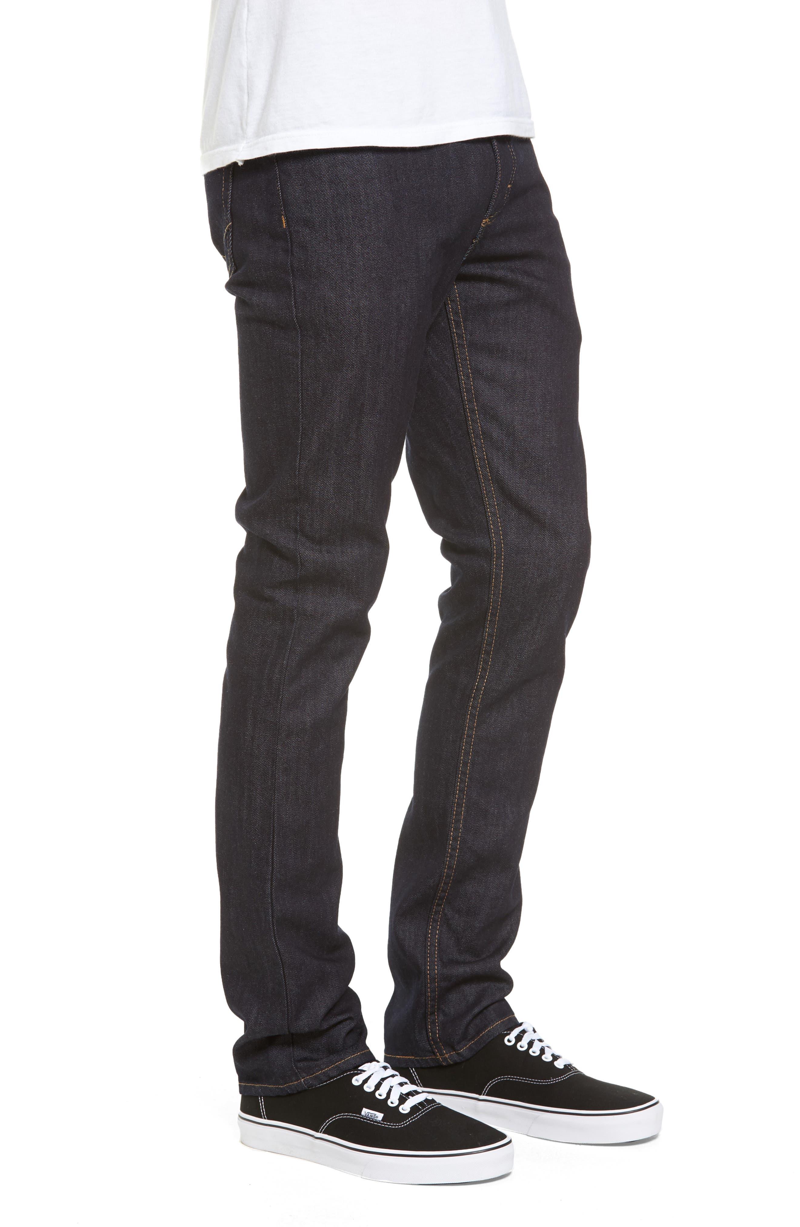 V76 Skinny Jeans,                             Alternate thumbnail 3, color,                             Indigo