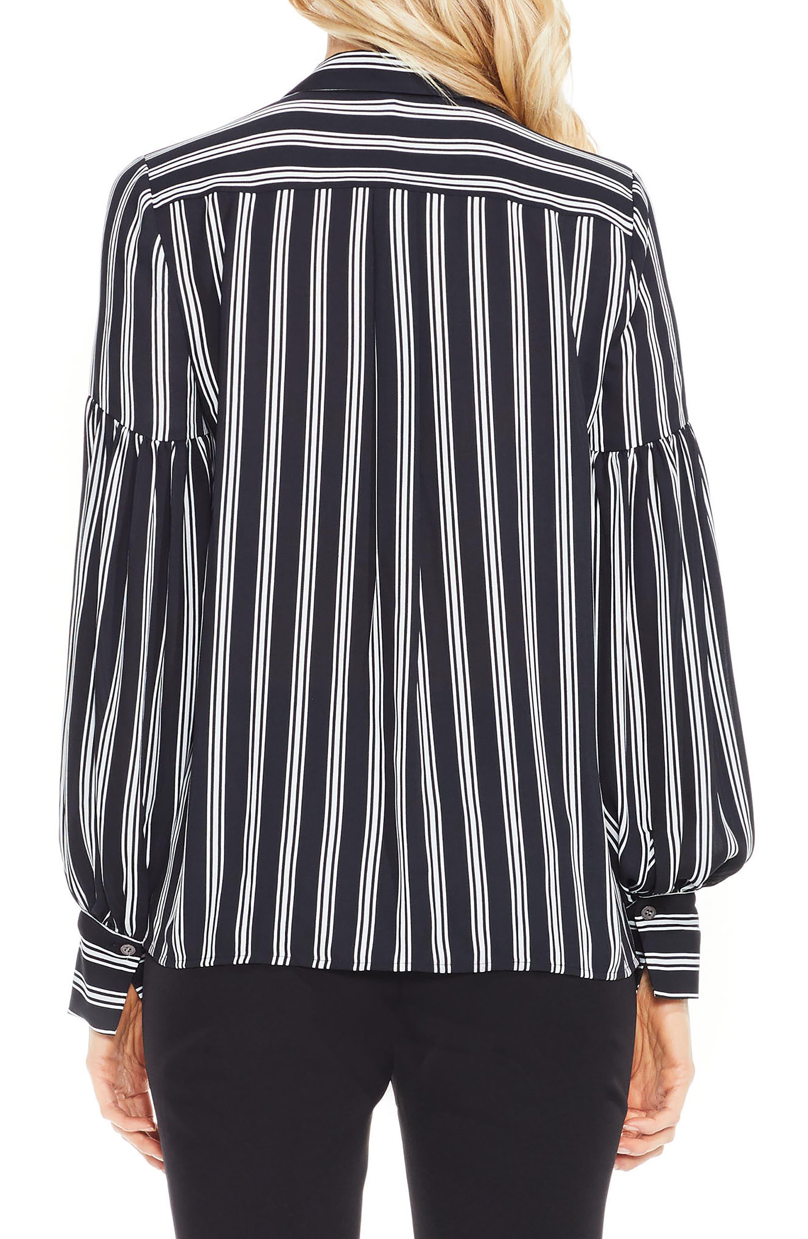 Alternate Image 2  - Vince Camuto Stripe Puff Sleeve Blouse