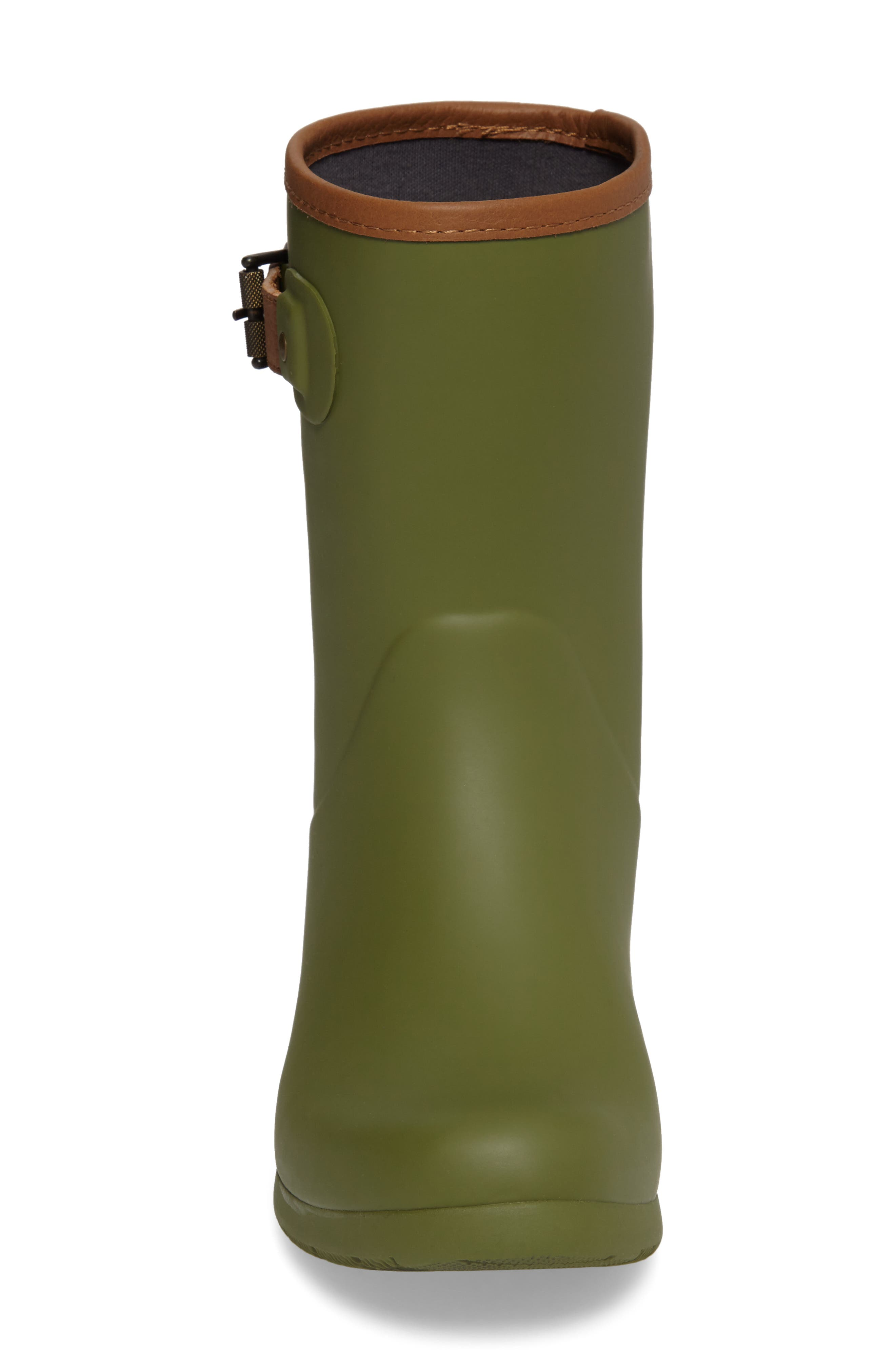 City Solid Mid Height Rain Boot,                             Alternate thumbnail 4, color,                             Olive