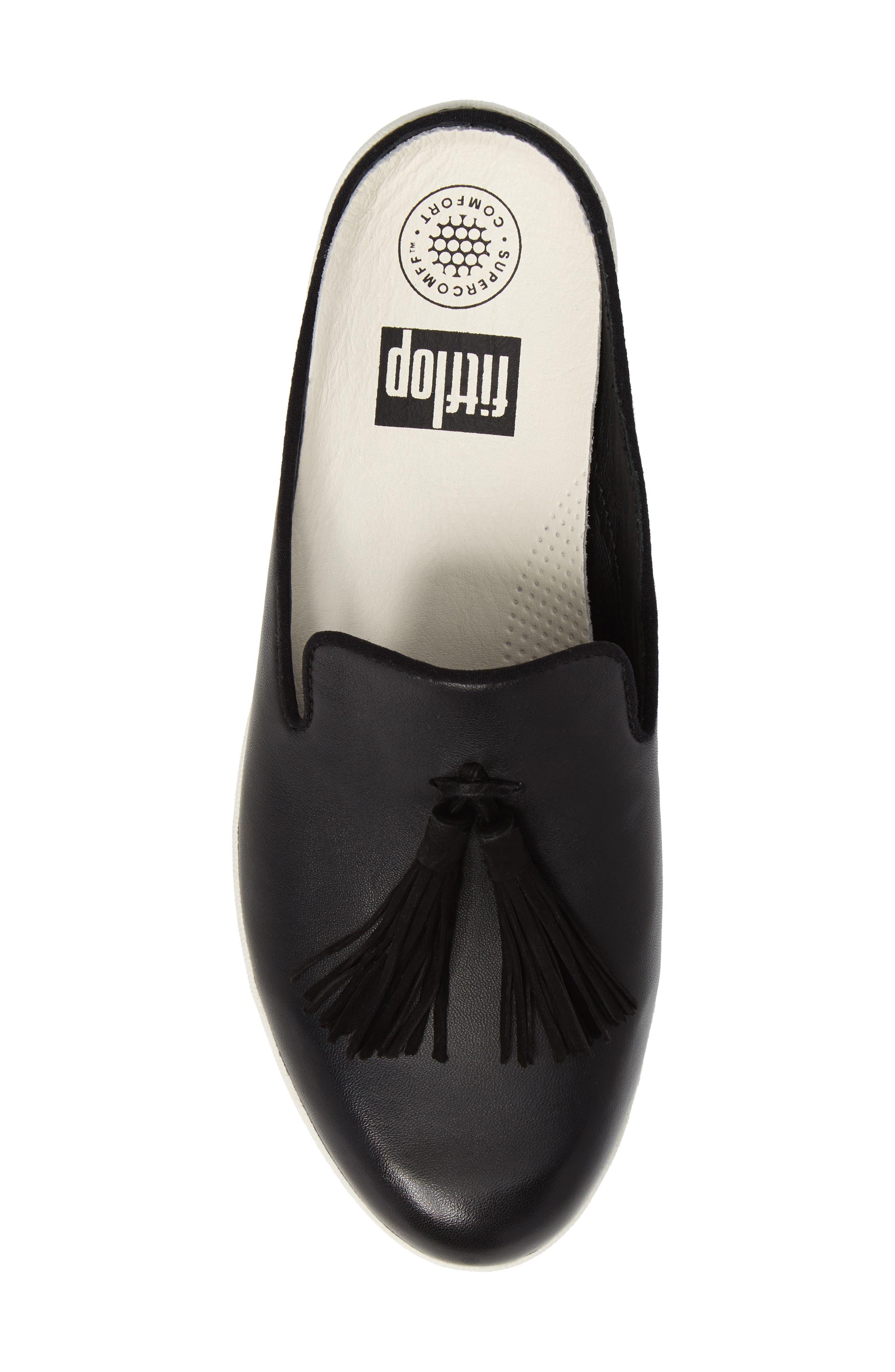 Alternate Image 5  - FitFlop Superskate Tasseled Loafer Mule (Women)