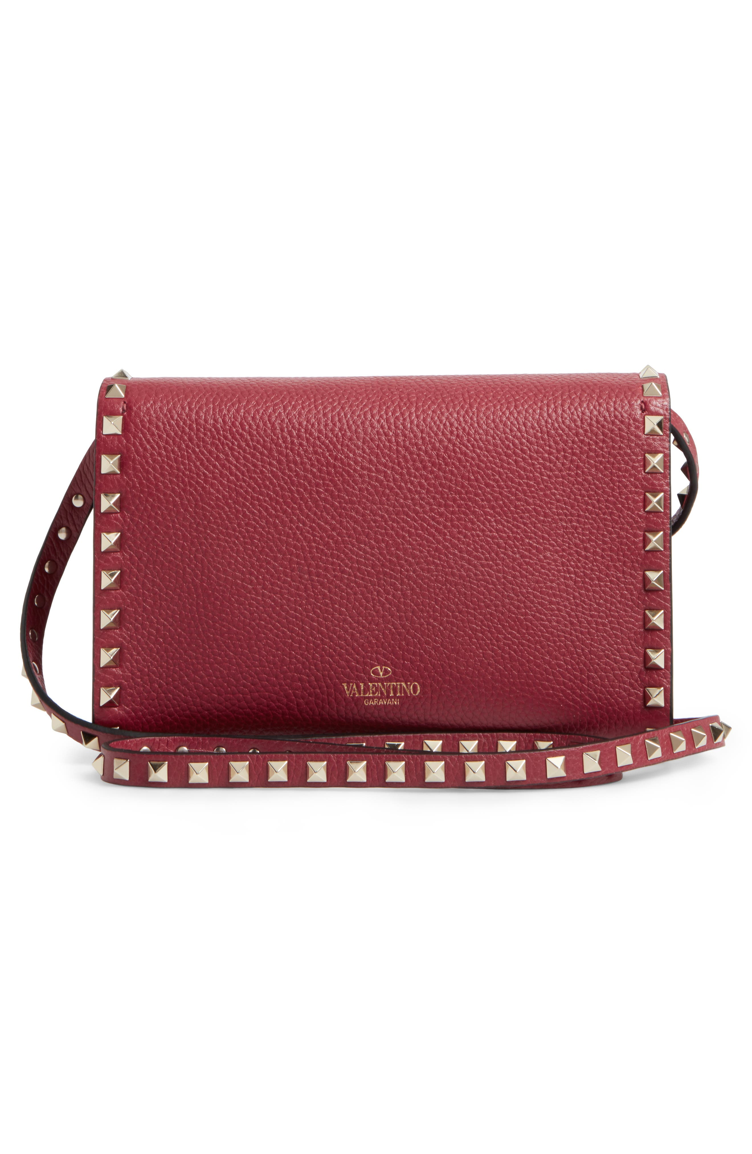 Alternate Image 3  - VALENTINO GARAVANI Medium Rockstud Leather Messenger Bag