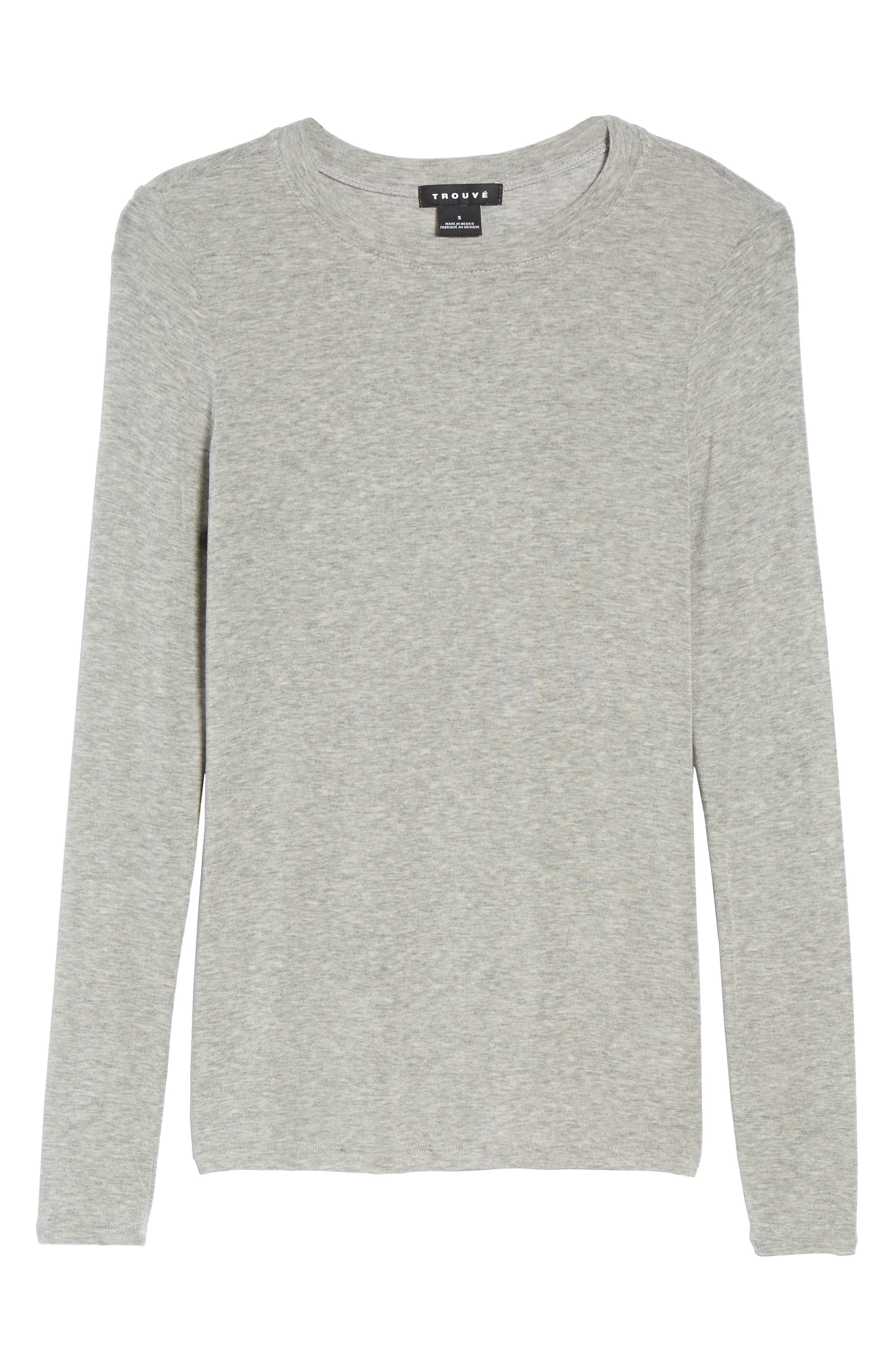Layering Tee,                             Alternate thumbnail 7, color,                             Grey Heather