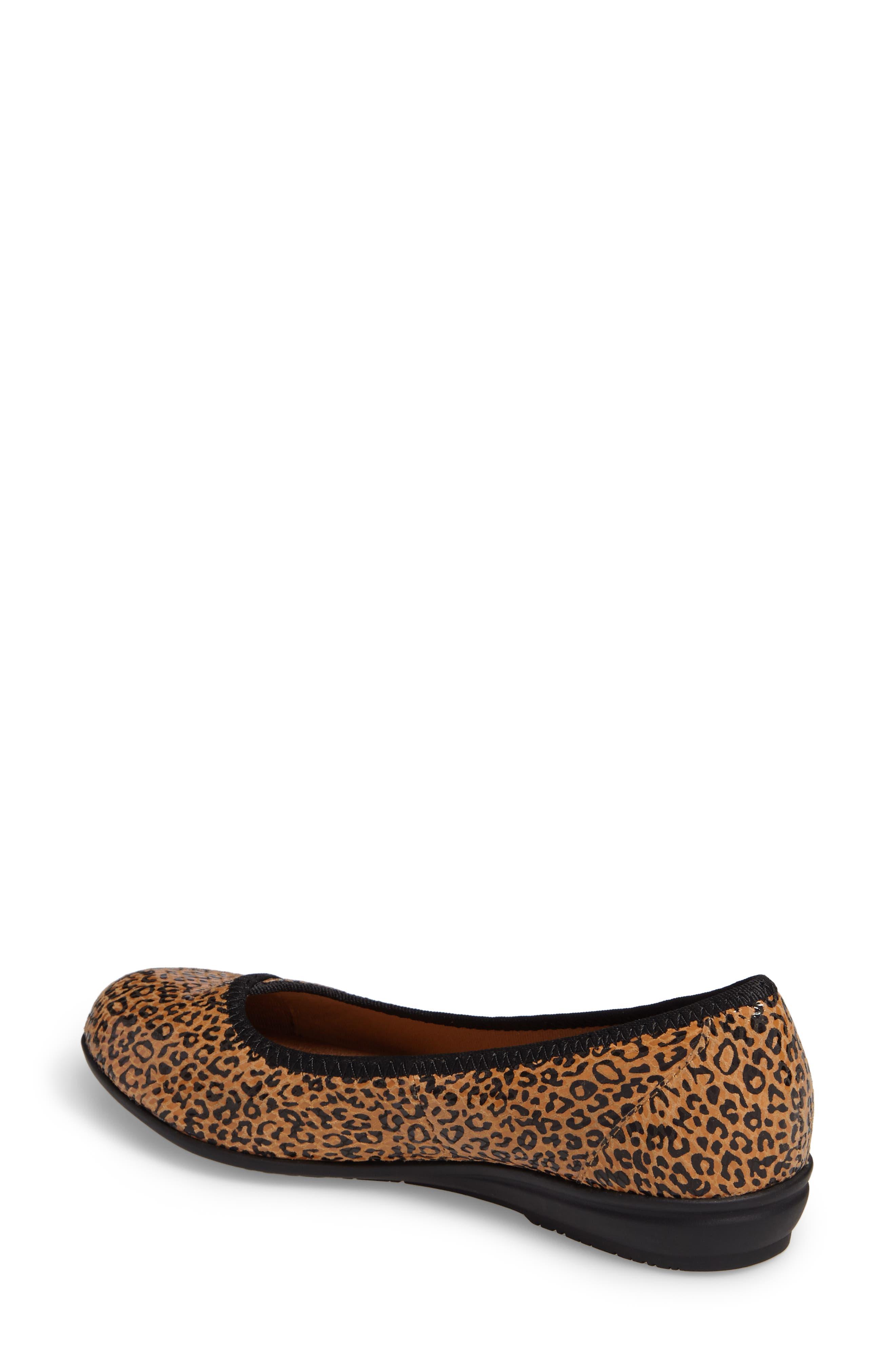 Eaton Flat,                             Alternate thumbnail 2, color,                             Tan Leopard Suede