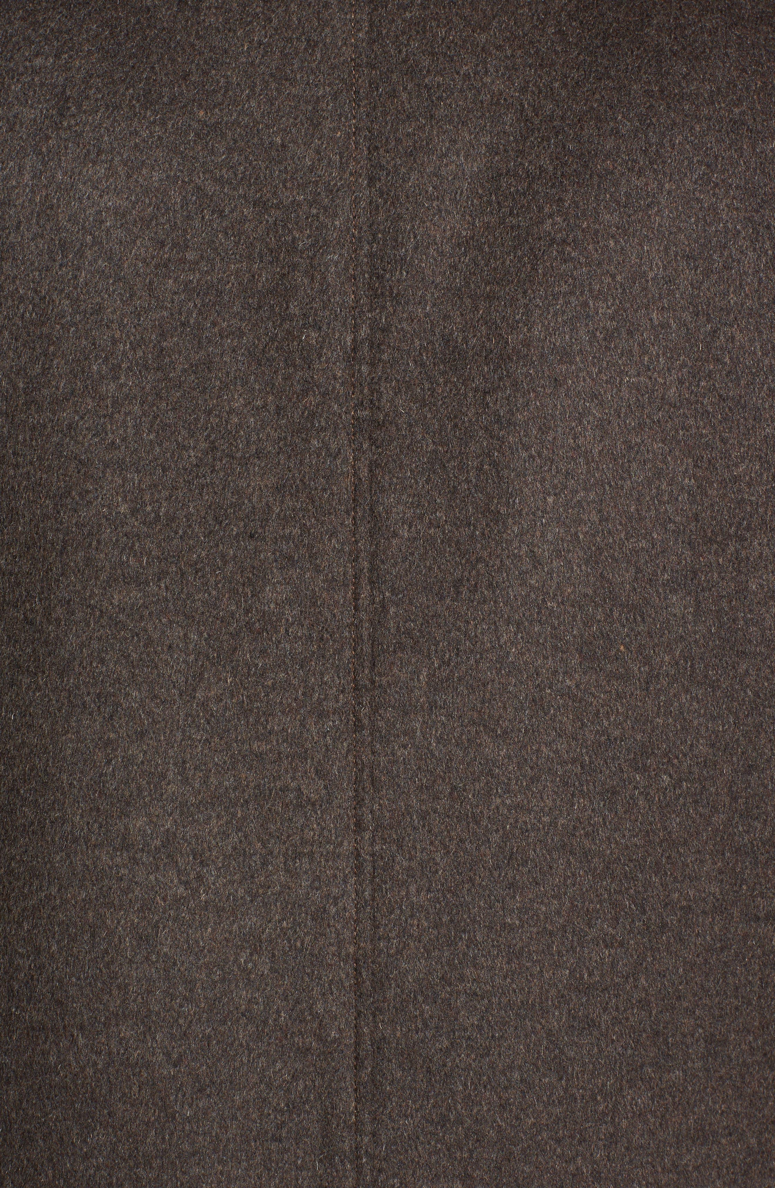 Wool Jacket,                             Alternate thumbnail 5, color,                             Brown Melange