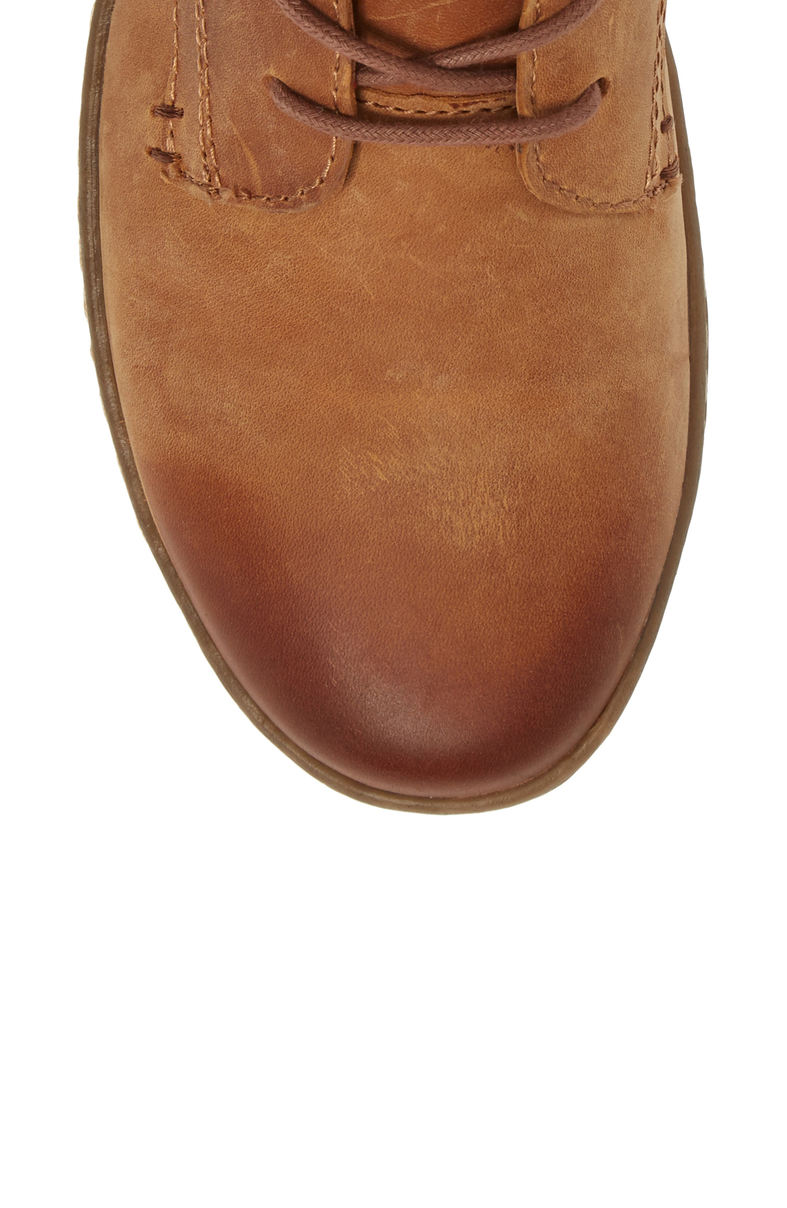 Cascade Boot,                             Alternate thumbnail 5, color,                             Almond Tan Leather