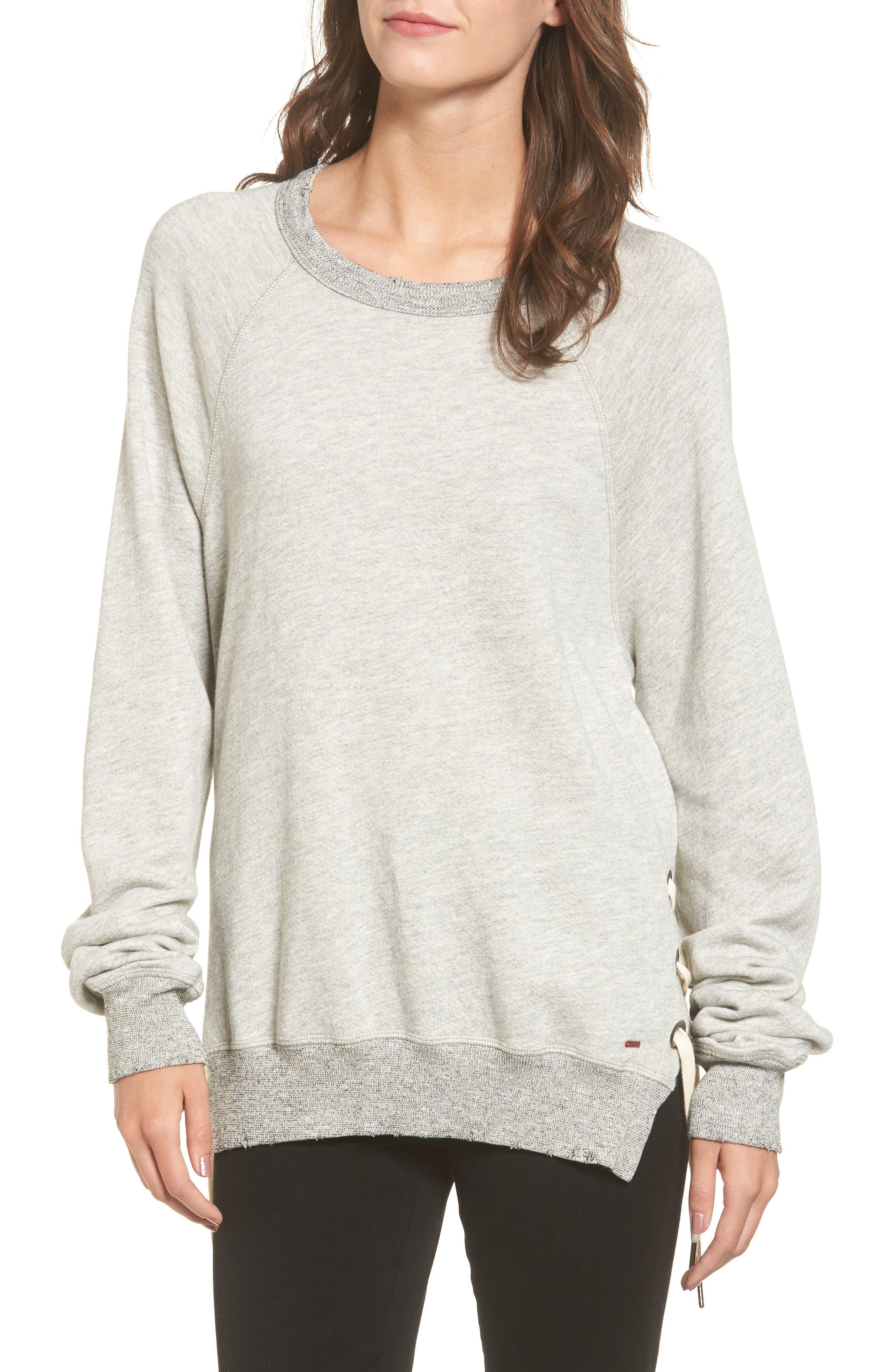Alternate Image 1 Selected - n:PHILANTHROPY Felix Lace-Up Sweatshirt