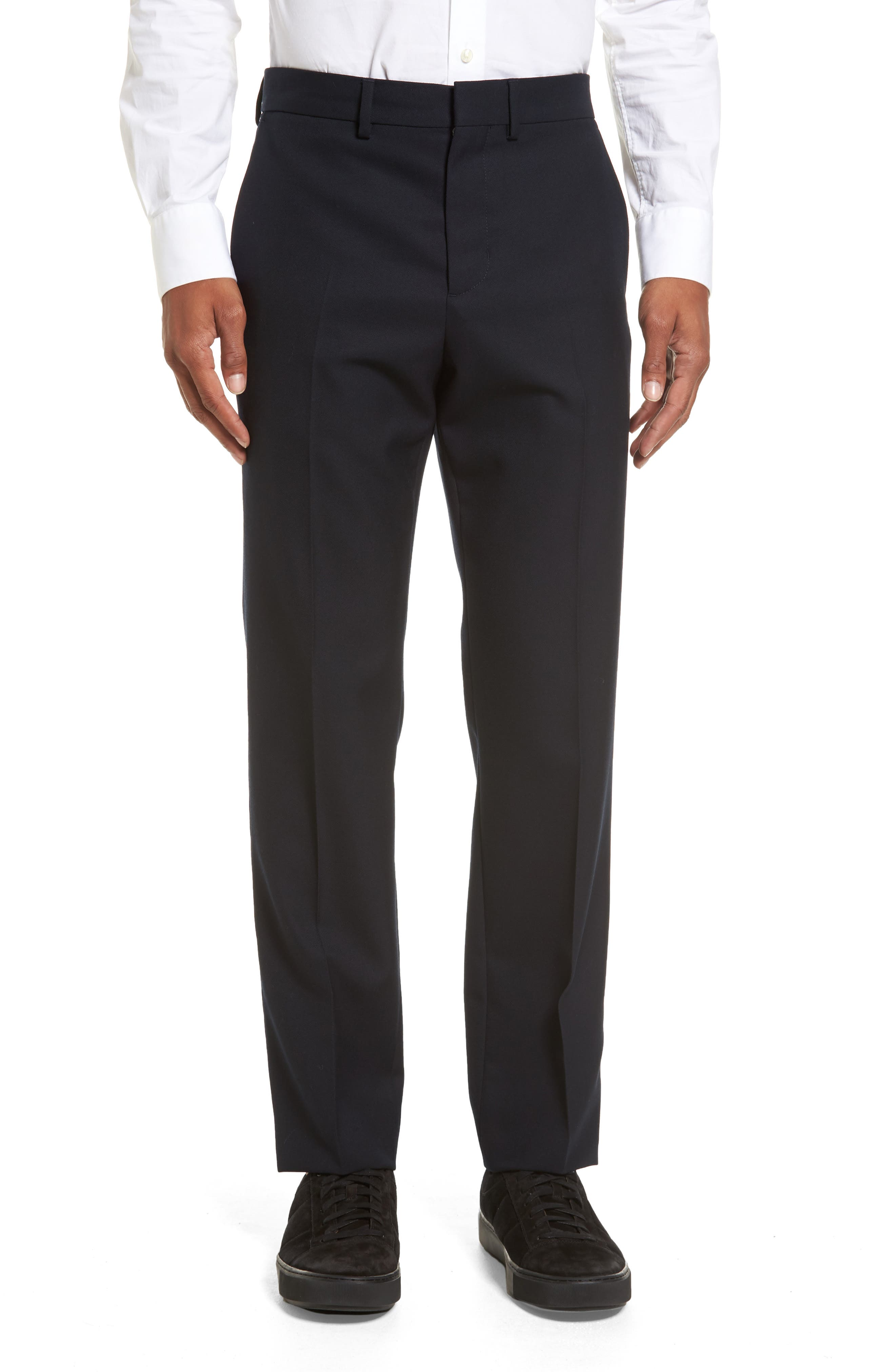 Regular Fit Wool Trousers,                             Main thumbnail 1, color,                             Coastal